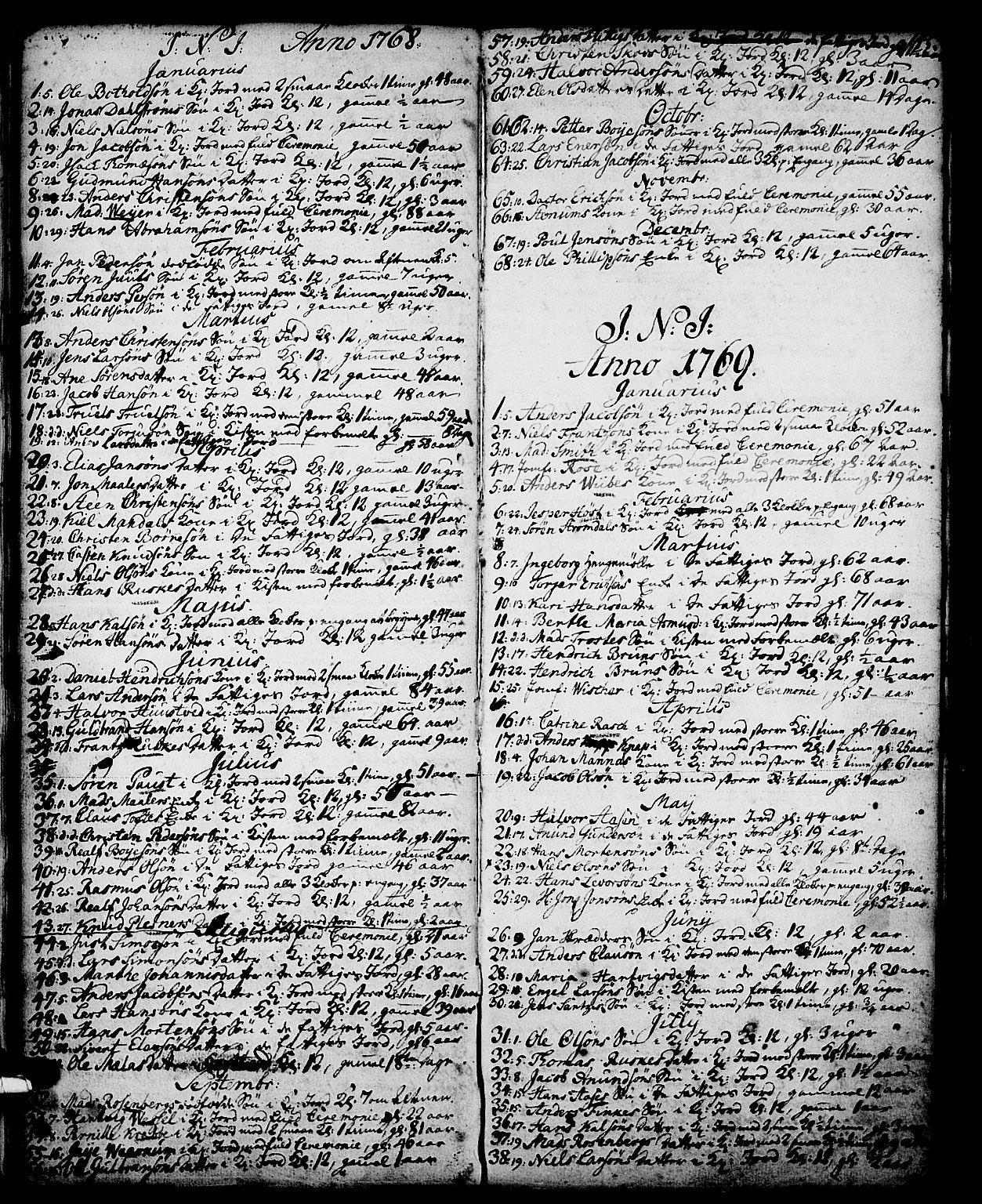 SAKO, Skien kirkebøker, G/Ga/L0001: Klokkerbok nr. 1, 1756-1791, s. 145