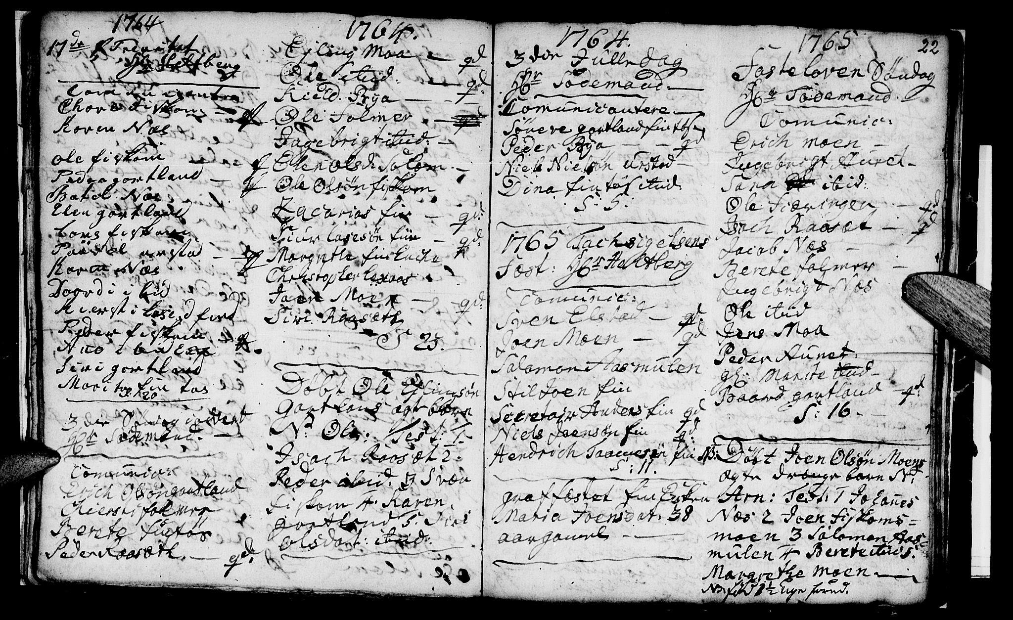 SAT, Ministerialprotokoller, klokkerbøker og fødselsregistre - Nord-Trøndelag, 759/L0526: Ministerialbok nr. 759A02, 1758-1765, s. 22