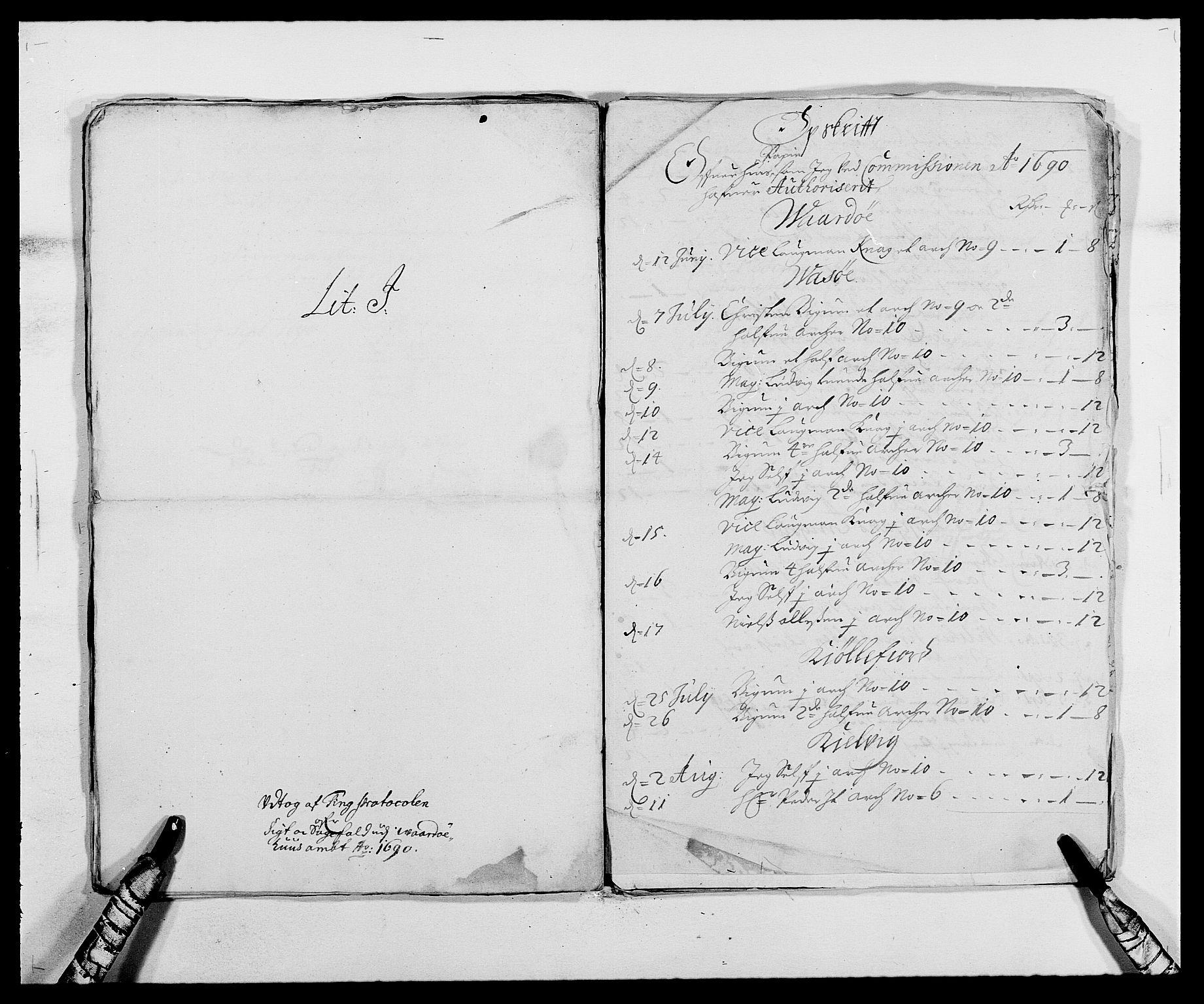 RA, Rentekammeret inntil 1814, Reviderte regnskaper, Fogderegnskap, R69/L4850: Fogderegnskap Finnmark/Vardøhus, 1680-1690, s. 291