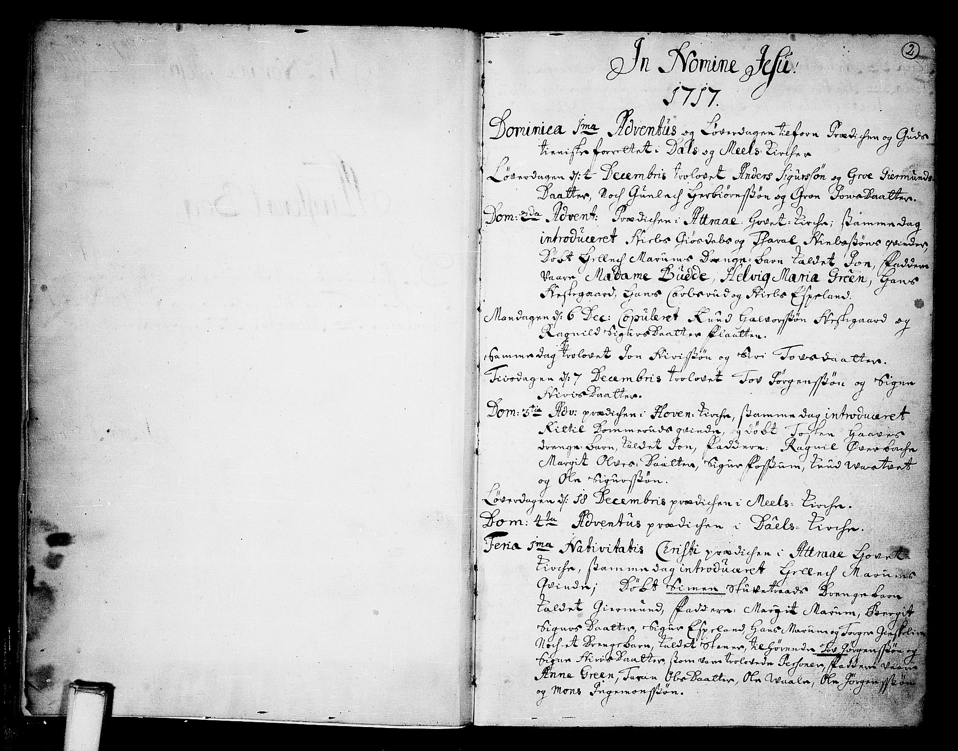 SAKO, Tinn kirkebøker, F/Fa/L0001: Ministerialbok nr. I 1, 1717-1734, s. 2