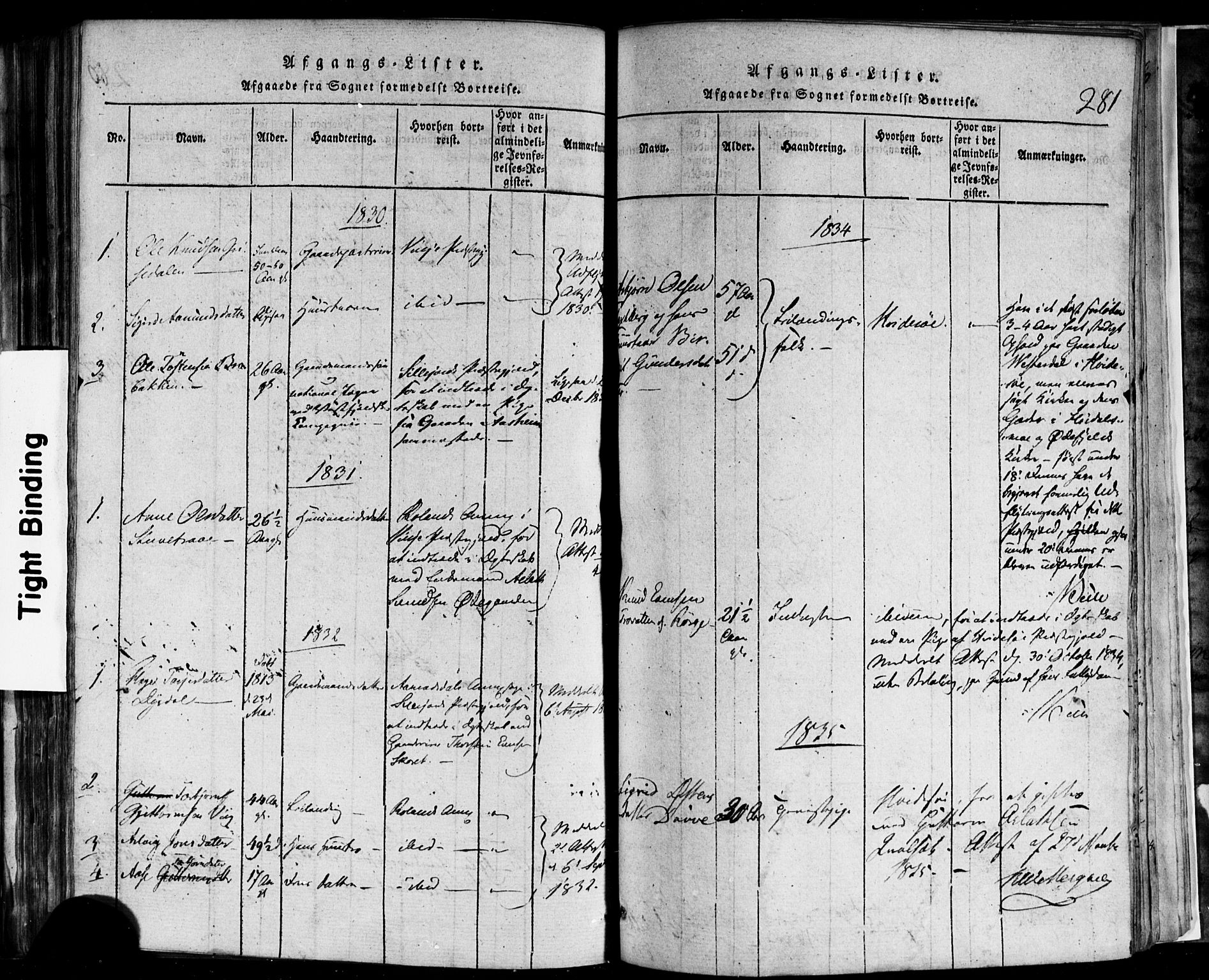 SAKO, Rauland kirkebøker, F/Fa/L0002: Ministerialbok nr. 2, 1815-1860, s. 281