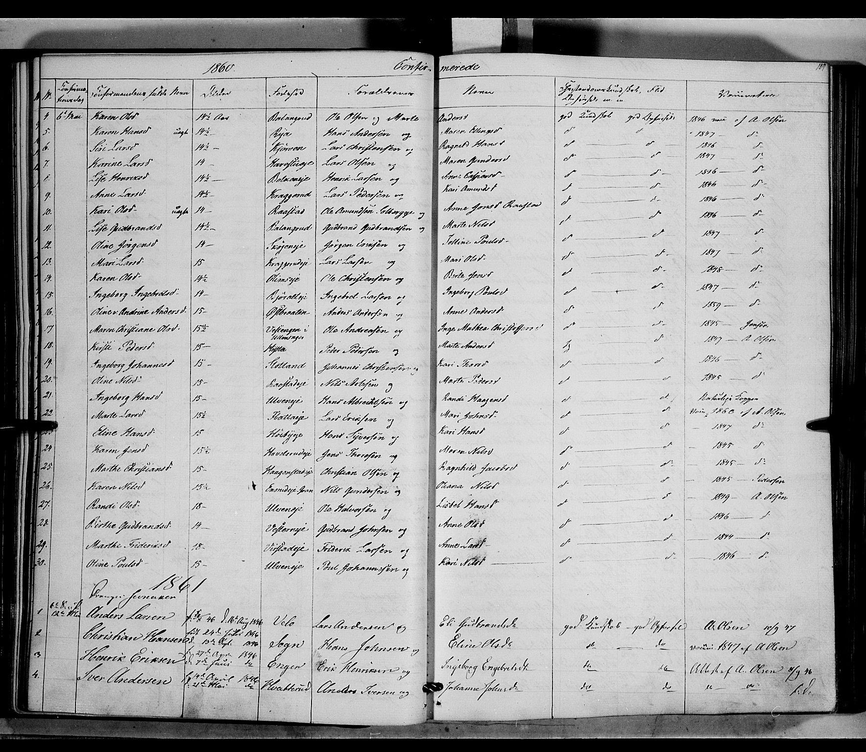 SAH, Jevnaker prestekontor, Ministerialbok nr. 7, 1858-1876, s. 109