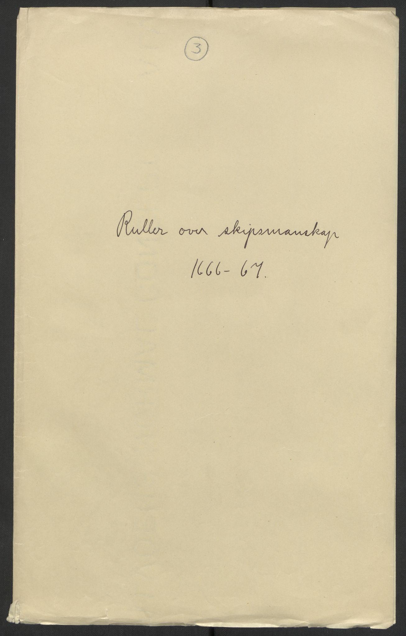 RA, Stattholderembetet 1572-1771, El/L0024: Forskjellige pakkesaker, 1666-1667, s. 1
