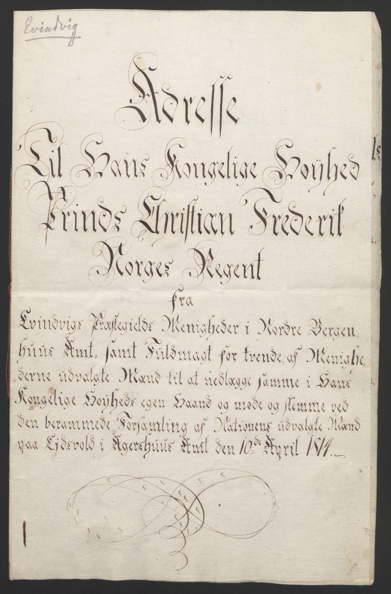 RA, Statsrådssekretariatet, D/Db/L0008: Fullmakter for Eidsvollsrepresentantene i 1814. , 1814, s. 317