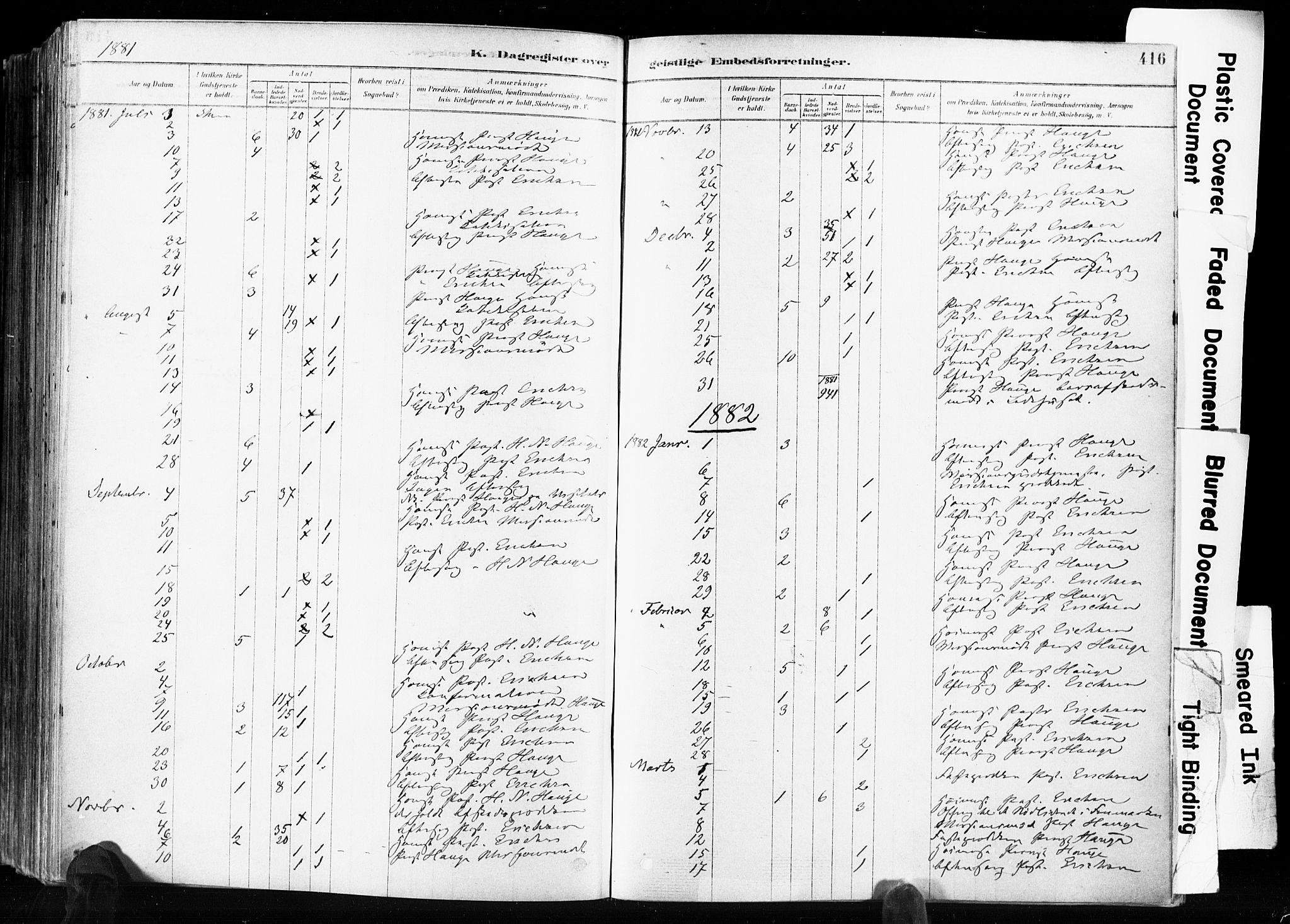 SAKO, Skien kirkebøker, F/Fa/L0009: Ministerialbok nr. 9, 1878-1890, s. 416