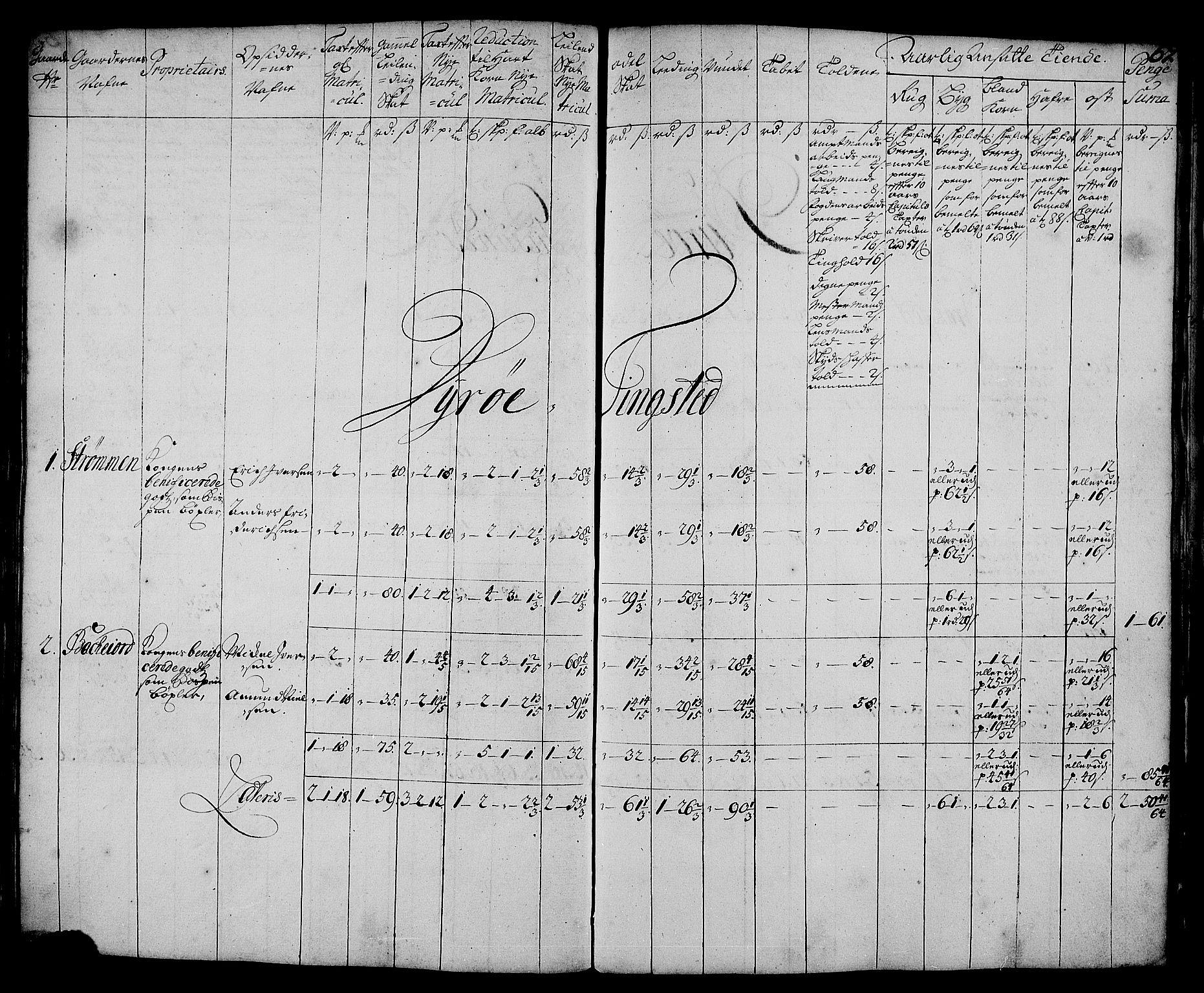 RA, Rentekammeret inntil 1814, Realistisk ordnet avdeling, N/Nb/Nbf/L0179: Senja matrikkelprotokoll, 1723, s. 66b-67a