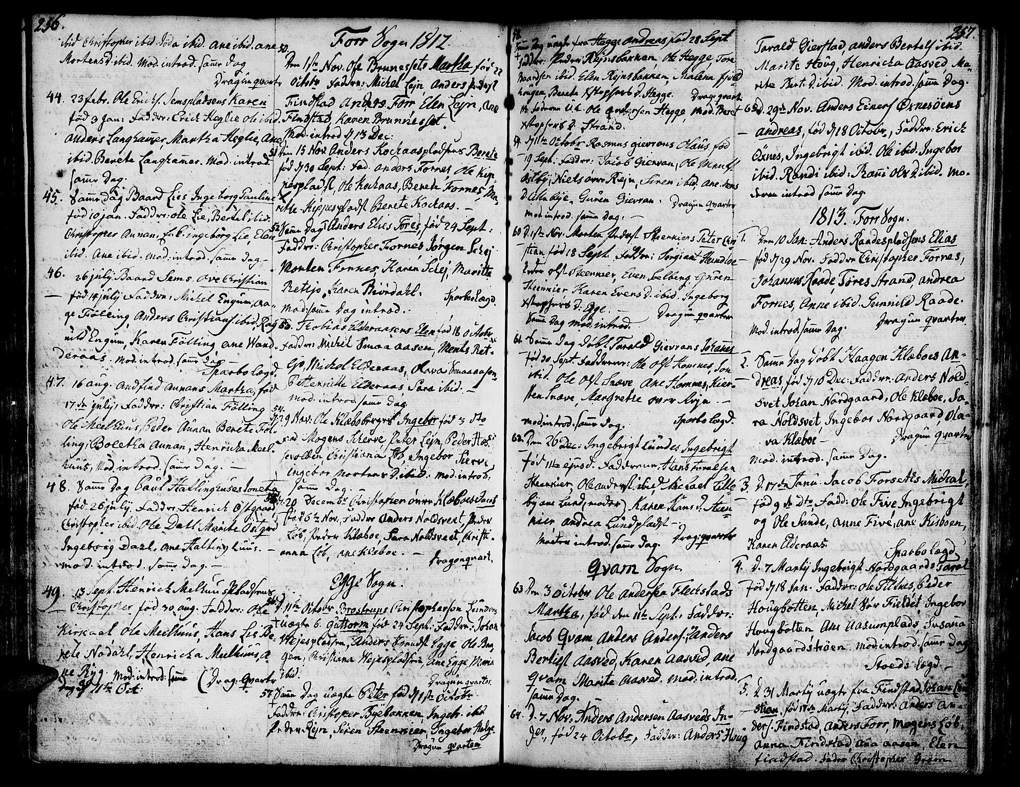 SAT, Ministerialprotokoller, klokkerbøker og fødselsregistre - Nord-Trøndelag, 746/L0440: Ministerialbok nr. 746A02, 1760-1815, s. 256-257