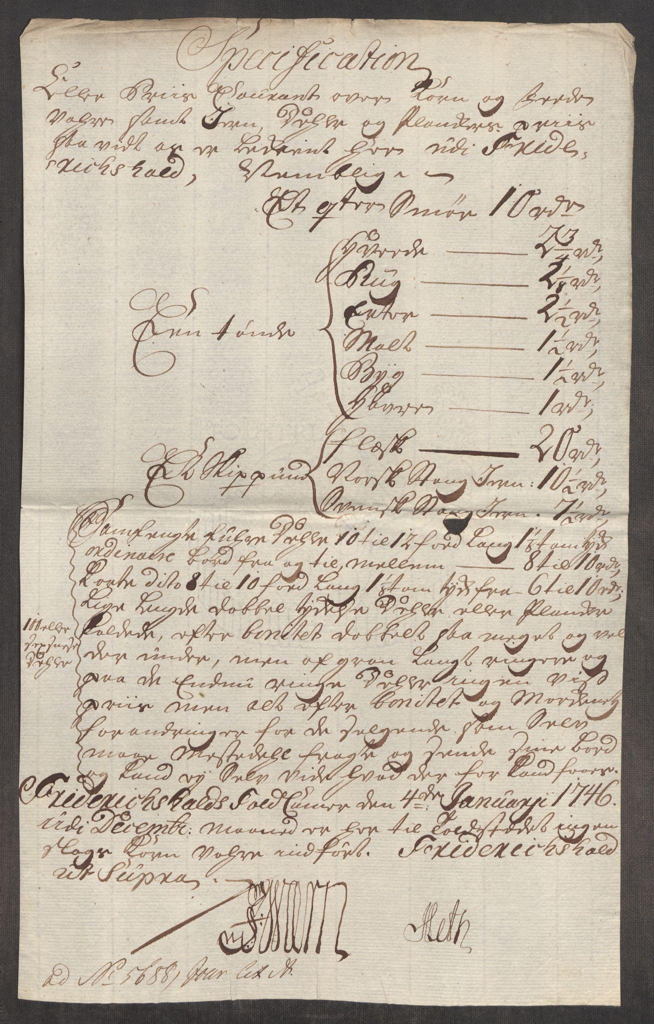 RA, Rentekammeret inntil 1814, Realistisk ordnet avdeling, Oe/L0003: [Ø1]: Priskuranter, 1745-1748, s. 224