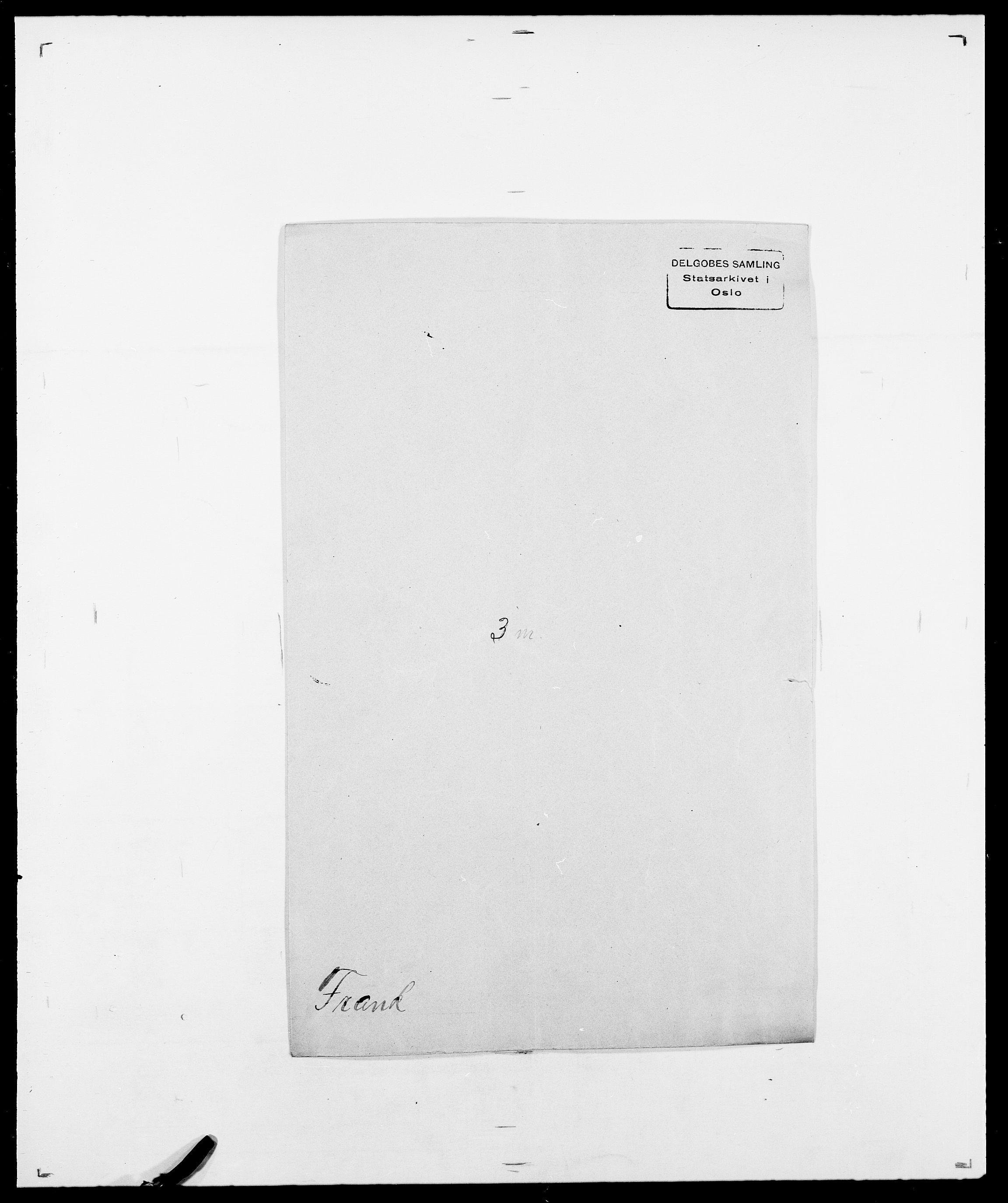 SAO, Delgobe, Charles Antoine - samling, D/Da/L0012: Flor, Floer, Flohr - Fritzner, s. 695