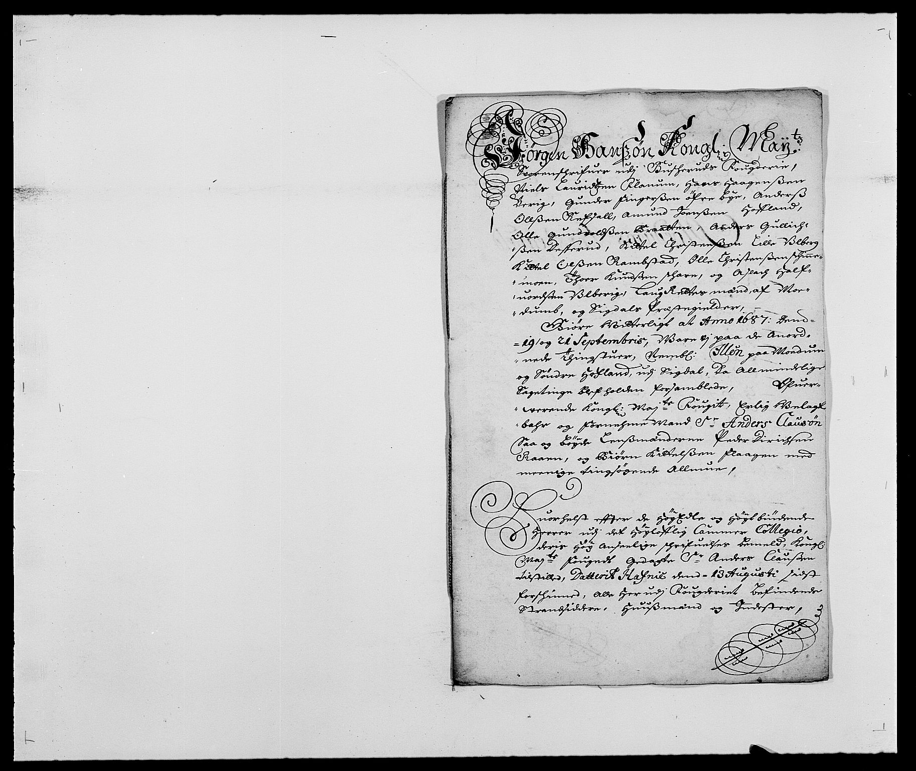 RA, Rentekammeret inntil 1814, Reviderte regnskaper, Fogderegnskap, R25/L1679: Fogderegnskap Buskerud, 1687-1688, s. 198