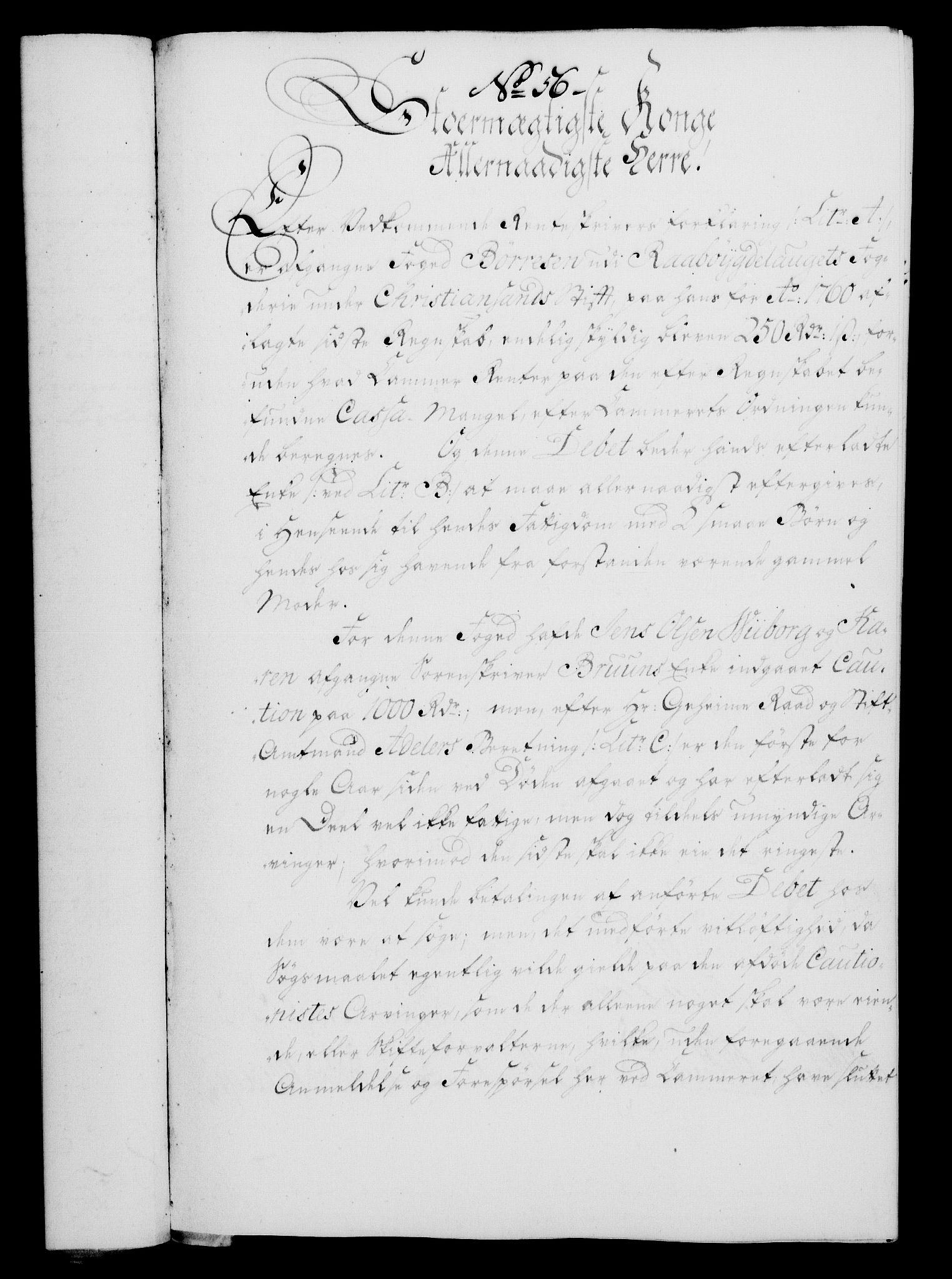 RA, Rentekammeret, Kammerkanselliet, G/Gf/Gfa/L0047: Norsk relasjons- og resolusjonsprotokoll (merket RK 52.47), 1765, s. 257