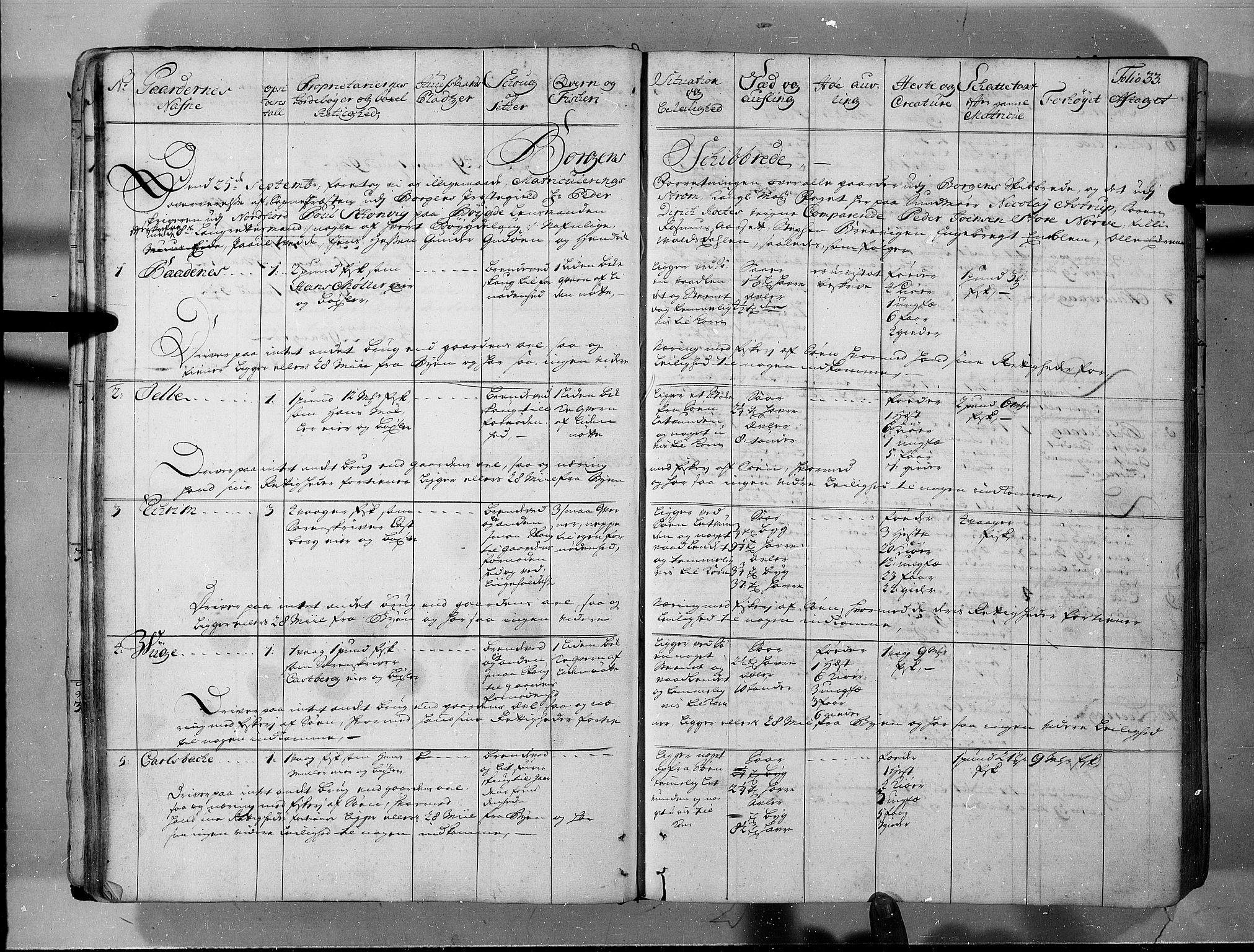 RA, Rentekammeret inntil 1814, Realistisk ordnet avdeling, N/Nb/Nbf/L0150: Sunnmøre eksaminasjonsprotokoll, 1724, s. 32b-33a