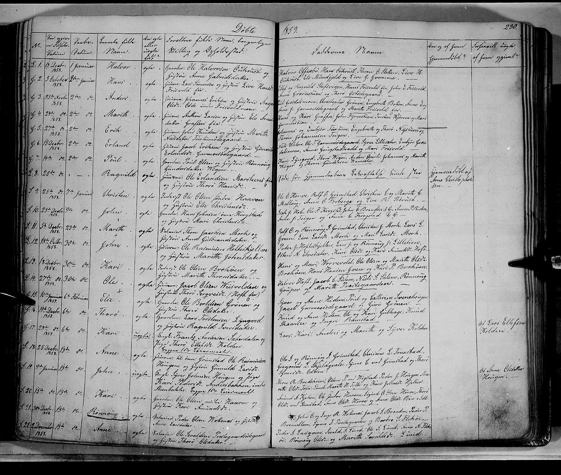 SAH, Lom prestekontor, K/L0006: Ministerialbok nr. 6A, 1837-1863, s. 230