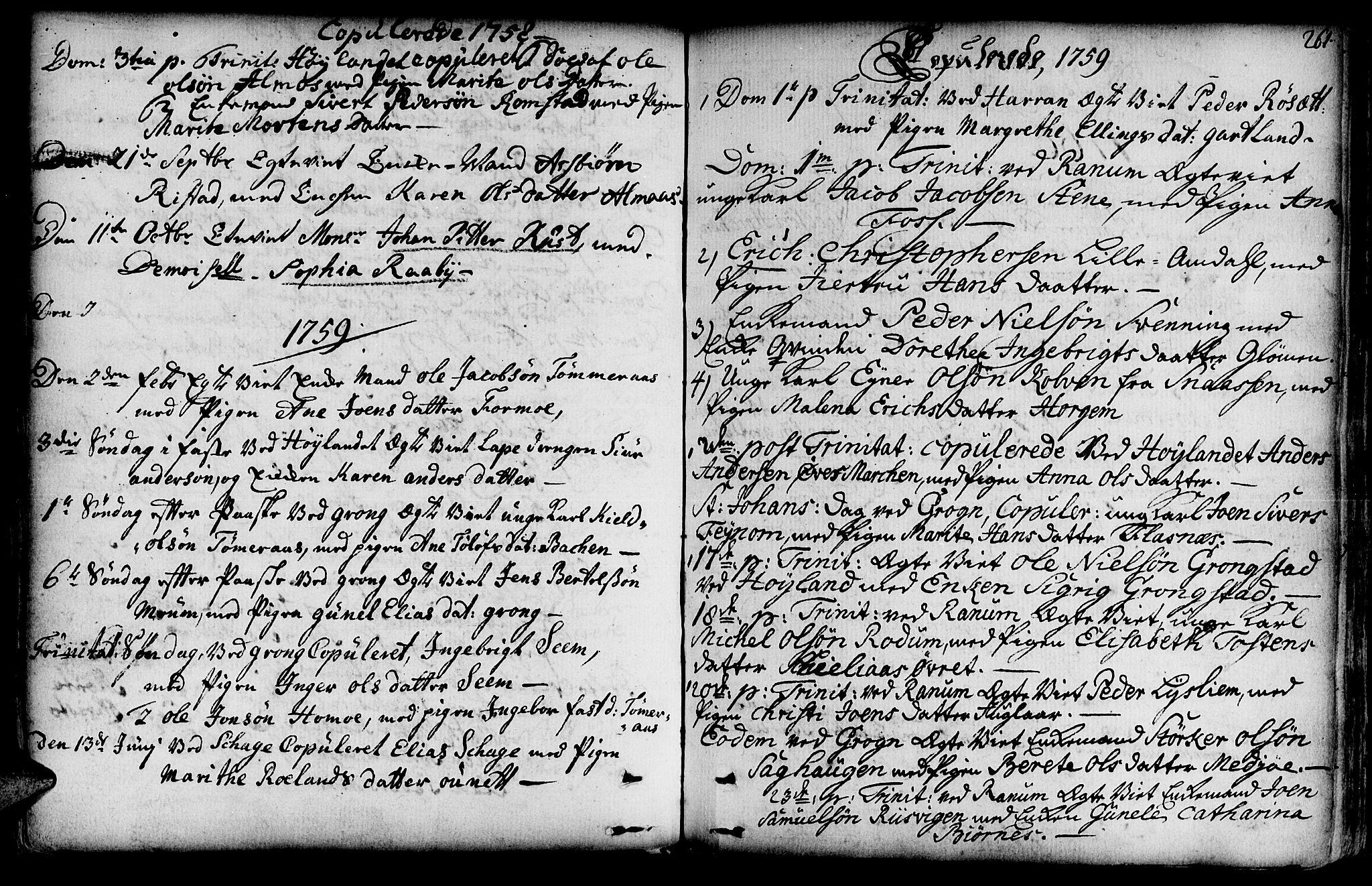 SAT, Ministerialprotokoller, klokkerbøker og fødselsregistre - Nord-Trøndelag, 764/L0542: Ministerialbok nr. 764A02, 1748-1779, s. 261