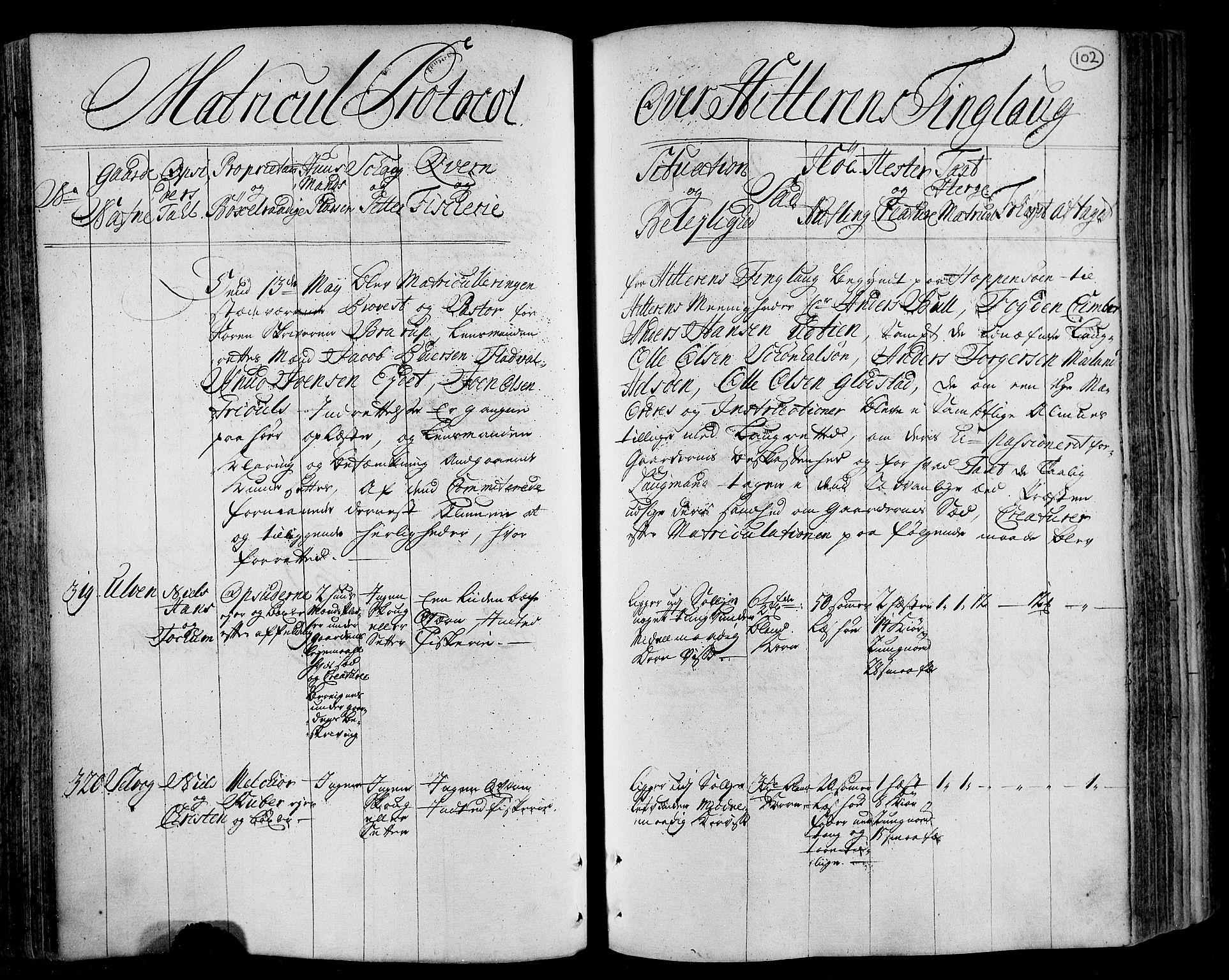 RA, Rentekammeret inntil 1814, Realistisk ordnet avdeling, N/Nb/Nbf/L0162: Fosen eksaminasjonsprotokoll, 1723, s. 101b-102a