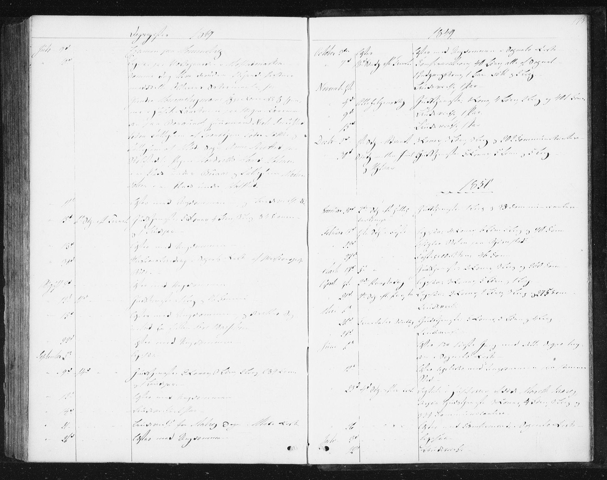 SAT, Ministerialprotokoller, klokkerbøker og fødselsregistre - Sør-Trøndelag, 616/L0407: Ministerialbok nr. 616A04, 1848-1856, s. 173