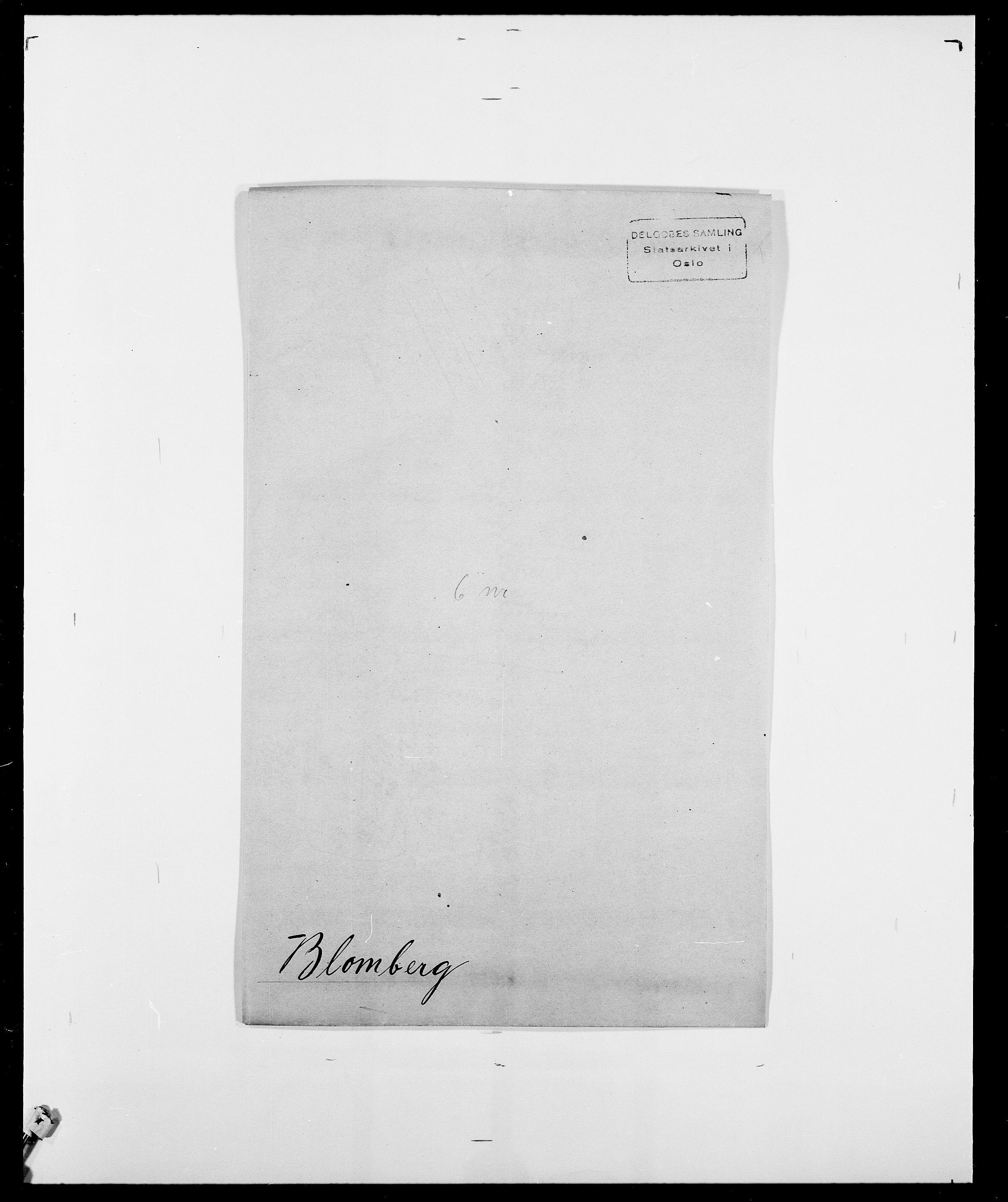 SAO, Delgobe, Charles Antoine - samling, D/Da/L0004: Bergendahl - Blære, s. 762