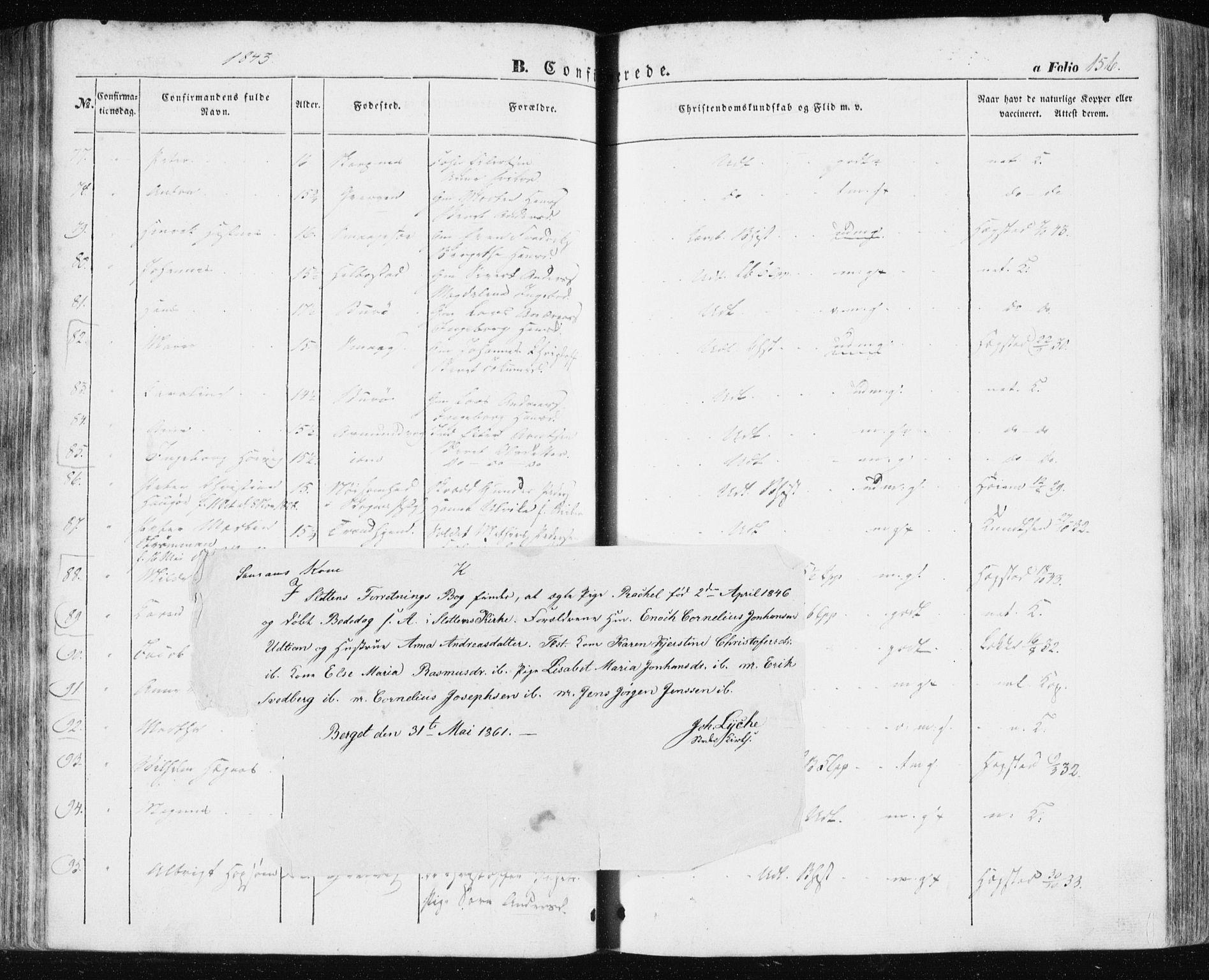 SAT, Ministerialprotokoller, klokkerbøker og fødselsregistre - Sør-Trøndelag, 634/L0529: Ministerialbok nr. 634A05, 1843-1851, s. 156
