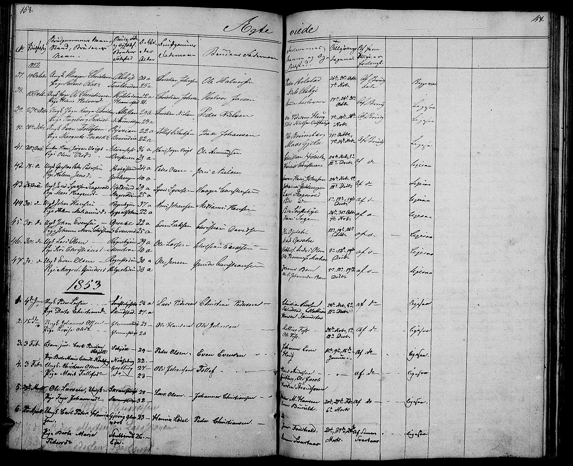 SAH, Østre Toten prestekontor, Klokkerbok nr. 3, 1848-1857, s. 158