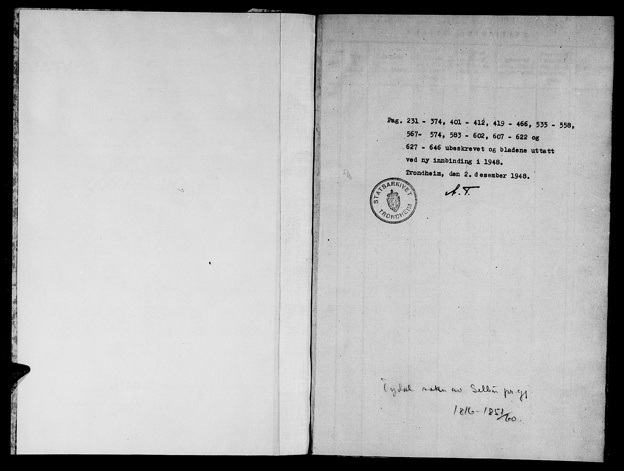 SAT, Ministerialprotokoller, klokkerbøker og fødselsregistre - Sør-Trøndelag, 698/L1164: Klokkerbok nr. 698C01, 1816-1861