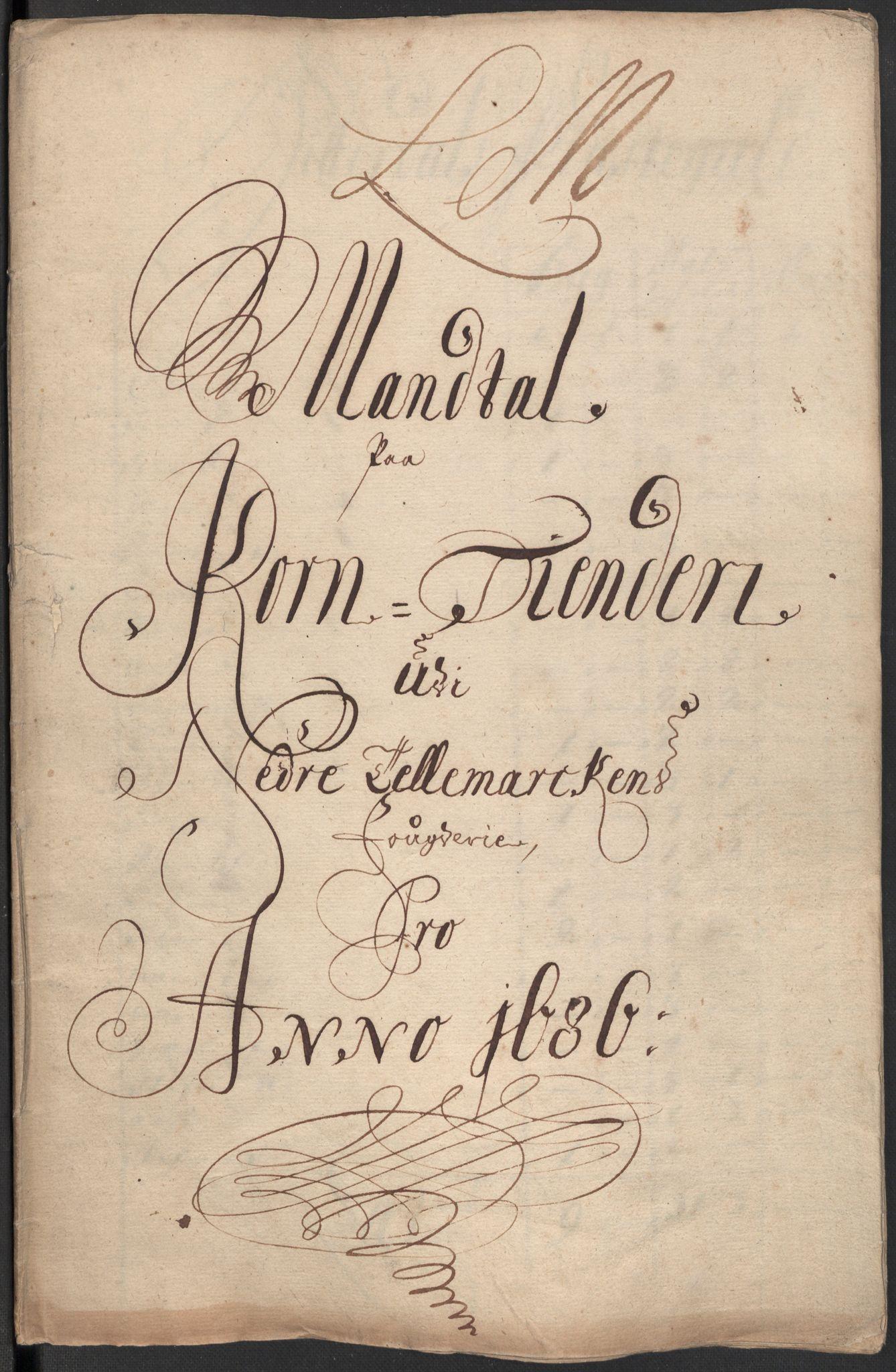 RA, Rentekammeret inntil 1814, Reviderte regnskaper, Fogderegnskap, R35/L2083: Fogderegnskap Øvre og Nedre Telemark, 1686, s. 305