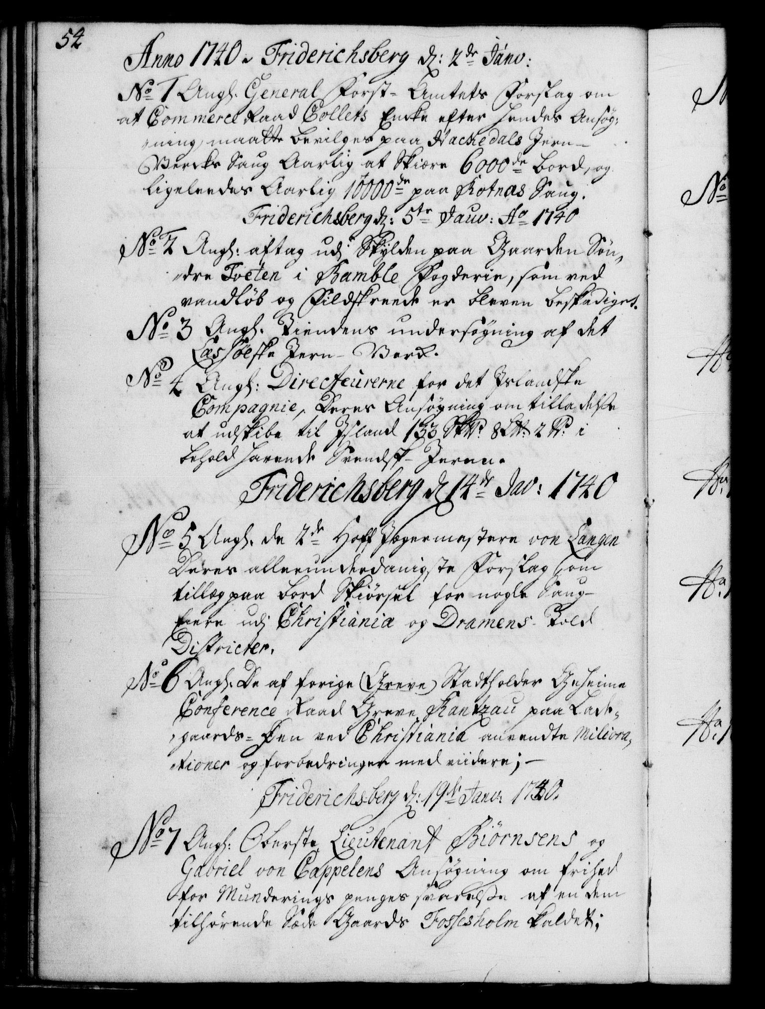 RA, Rentekammeret, Kammerkanselliet, G/Gf/Gfb/L0004: Register til norske relasjons- og resolusjonsprotokoller (merket RK 52.99), 1736-1743, s. 54