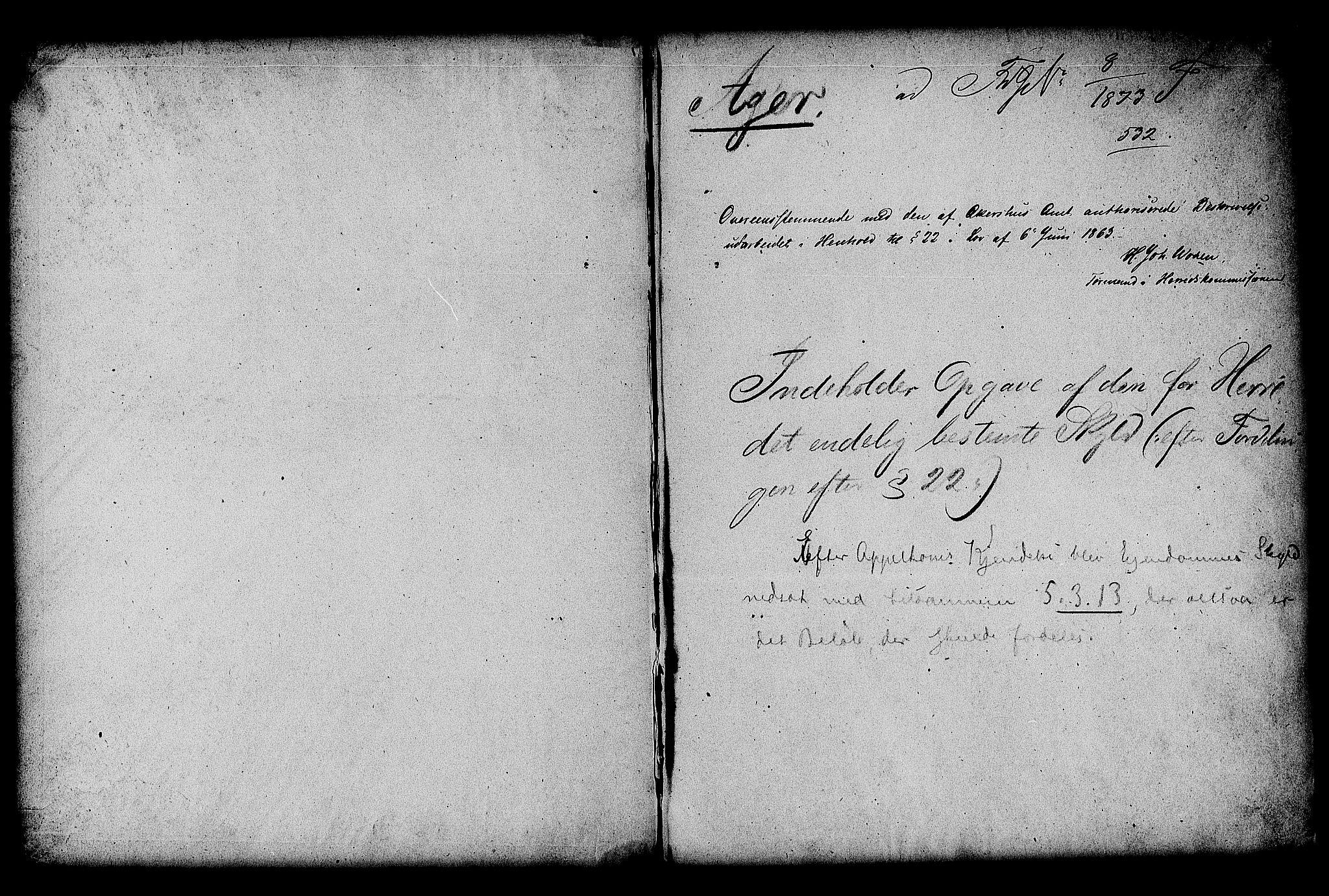 RA, Matrikkelrevisjonen av 1863, F/Fe/L0028: Aker, 1863