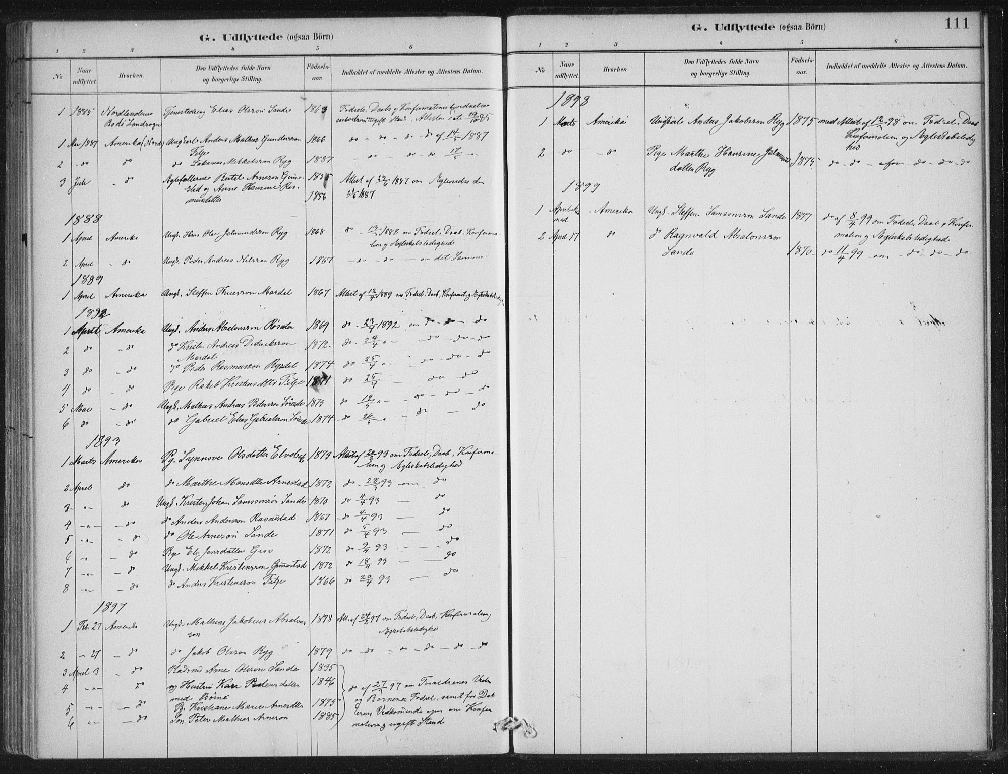 SAB, Gloppen sokneprestembete, H/Haa/Haad/L0001: Ministerialbok nr. D  1, 1885-1910, s. 111
