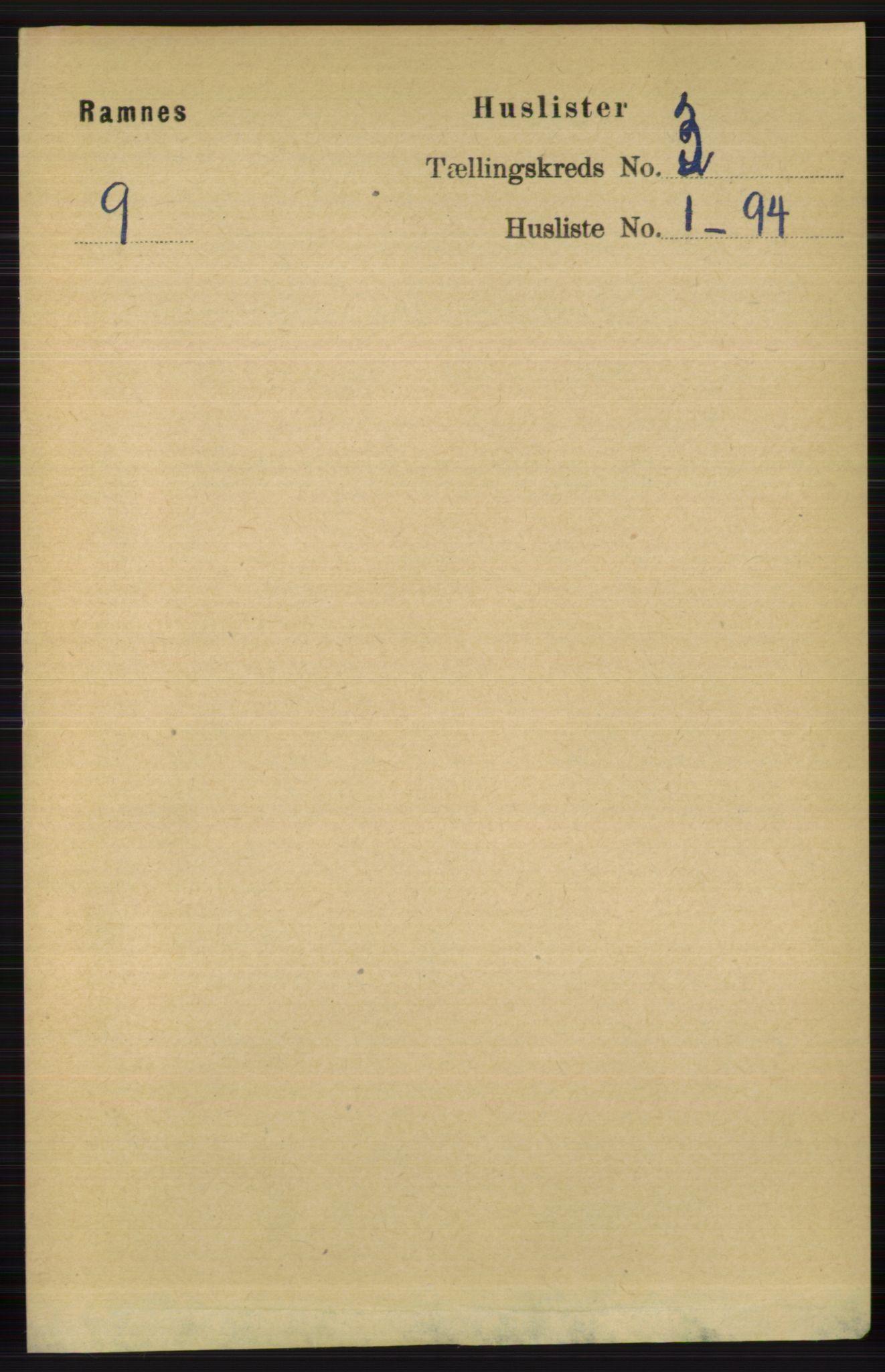 RA, Folketelling 1891 for 0718 Ramnes herred, 1891, s. 1198