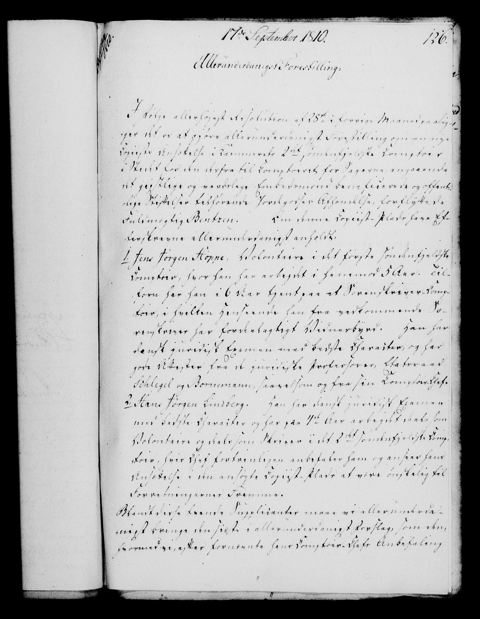 RA, Rentekammeret, Kammerkanselliet, G/Gf/Gfa/L0092: Norsk relasjons- og resolusjonsprotokoll (merket RK 52.92), 1810, s. 489