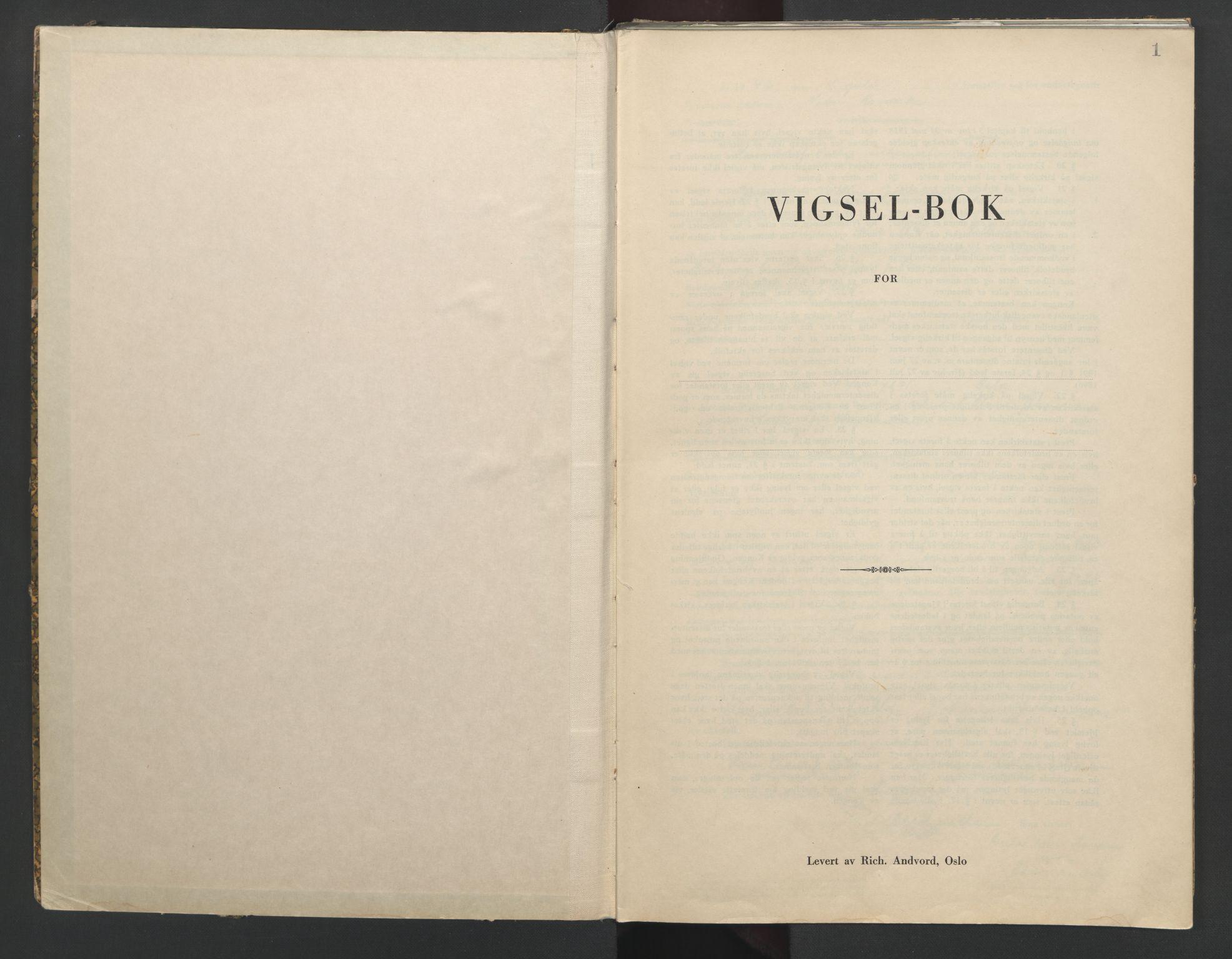 SAO, Nedre Romerike sorenskriveri, L/Lb/L0003: Vigselsbok - borgerlige vielser, 1942-1943, s. 1
