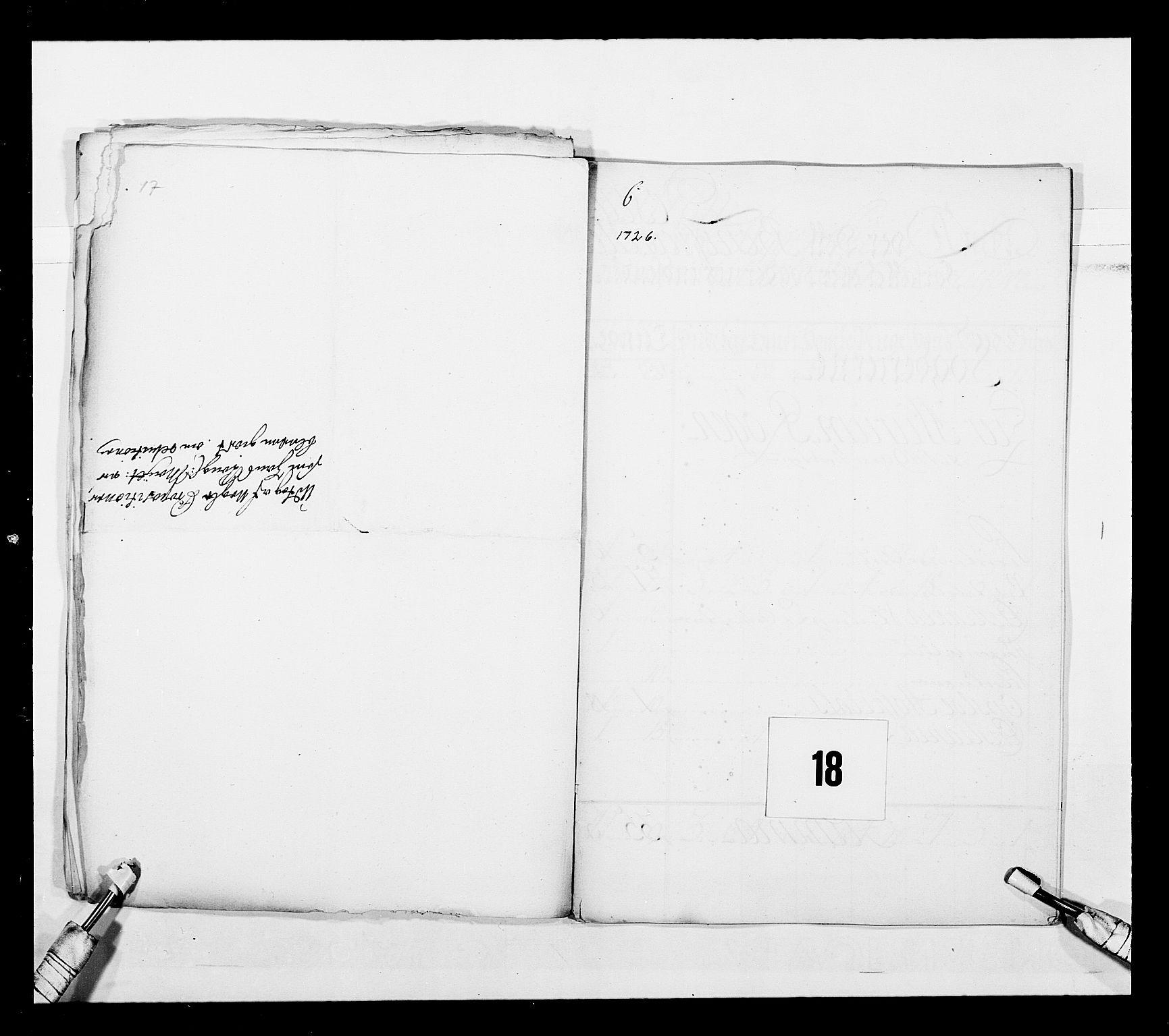 RA, Stattholderembetet 1572-1771, Ek/L0043: Jordebøker o.a. 1720-1728 vedkommende krongodset:, 1724-1728, s. 33