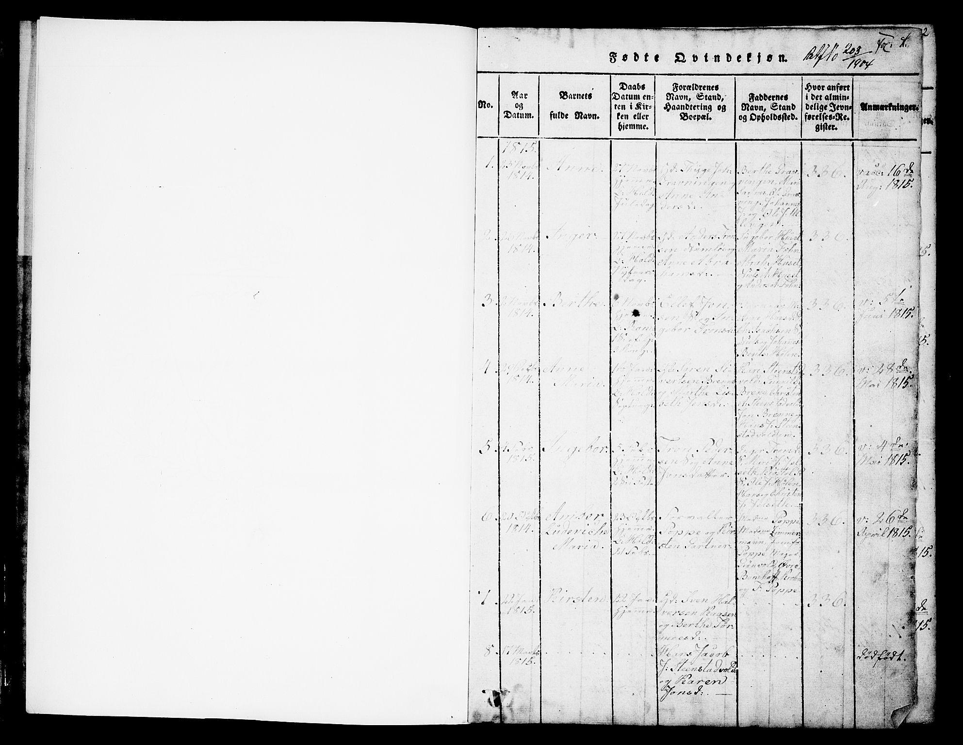 SAKO, Holla kirkebøker, G/Ga/L0001: Klokkerbok nr. I 1, 1814-1830, s. 1