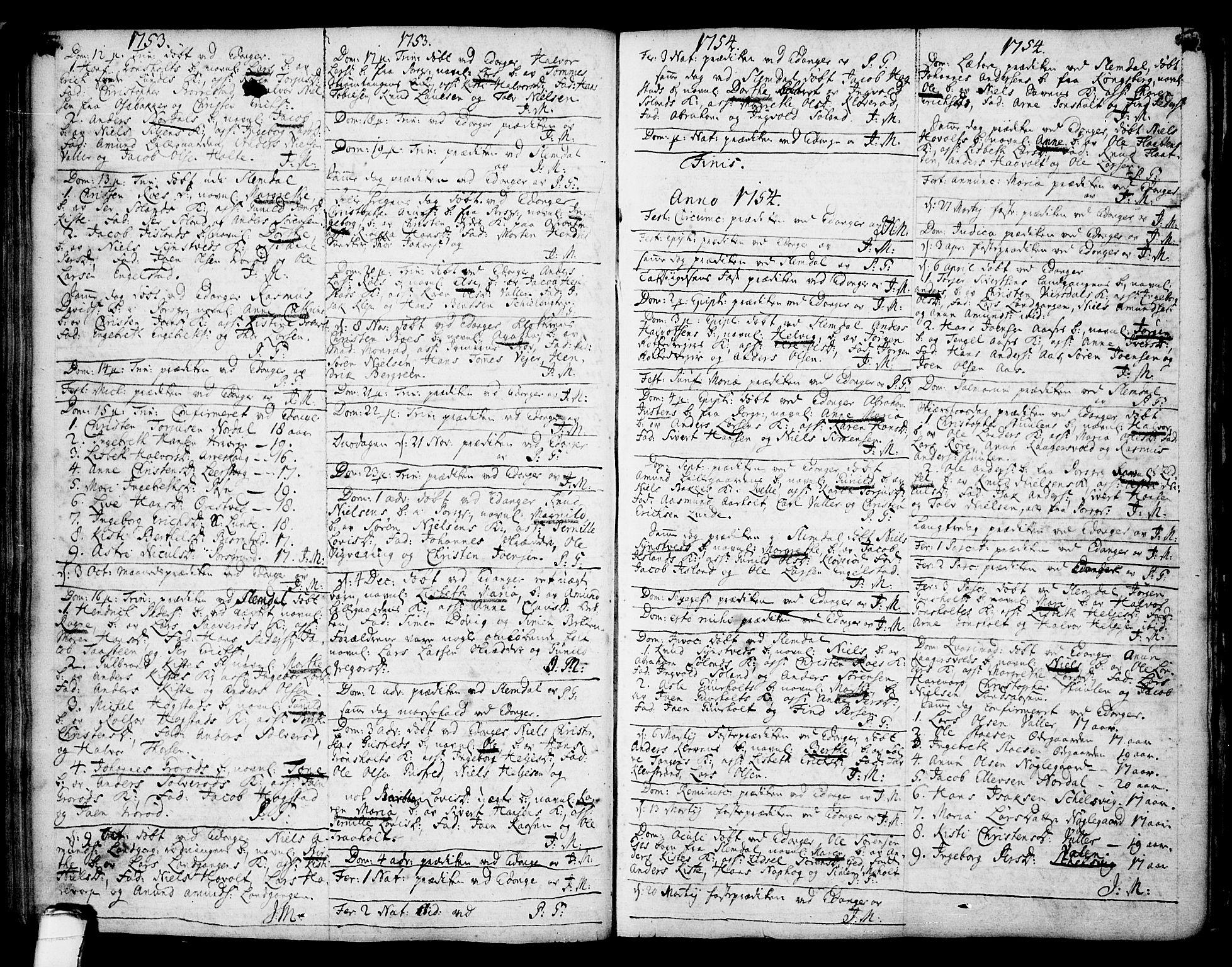 SAKO, Eidanger kirkebøker, F/Fa/L0004: Ministerialbok nr. 4, 1733-1759, s. 172-173