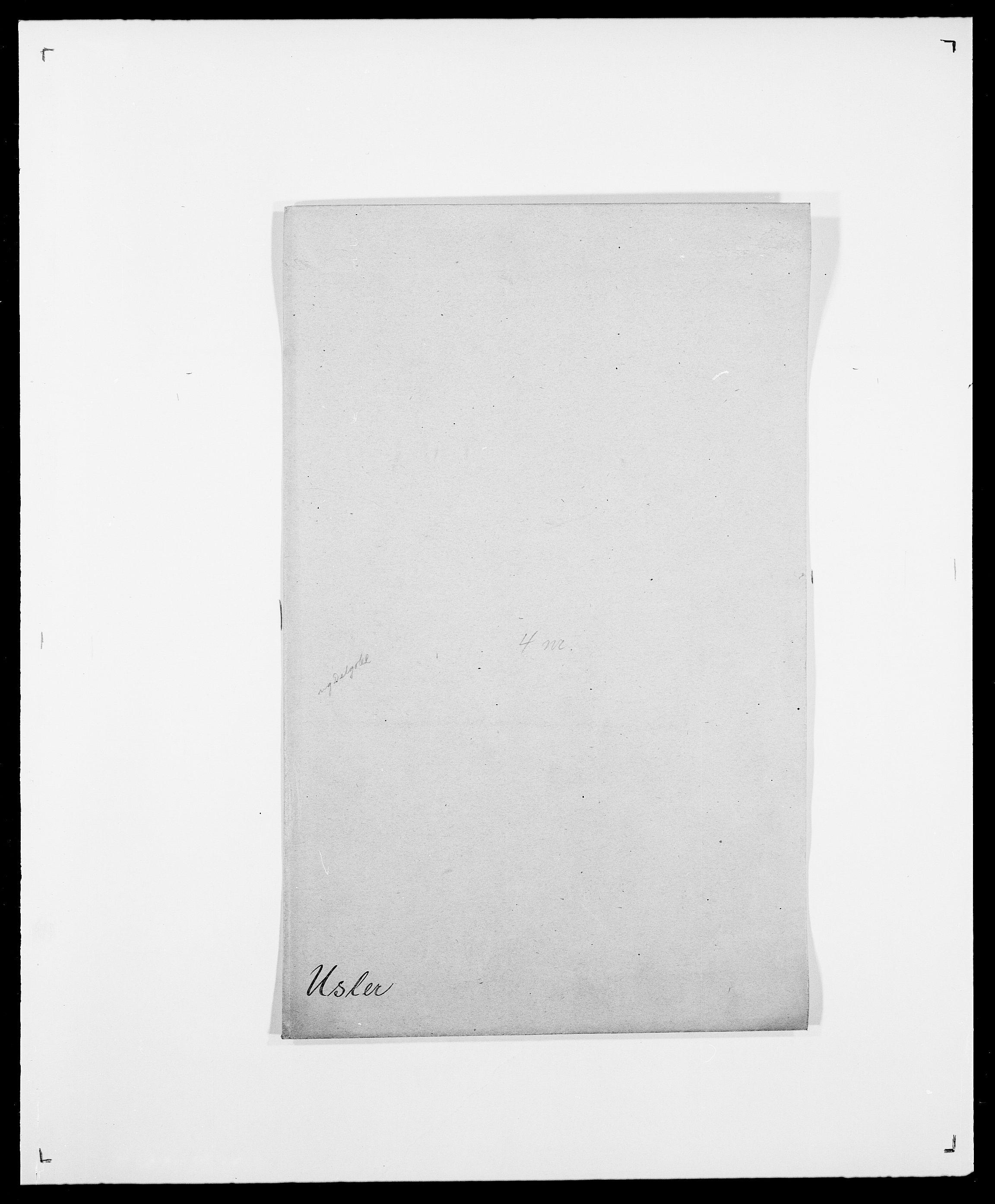 SAO, Delgobe, Charles Antoine - samling, D/Da/L0040: Usgaard - Velund, s. 4