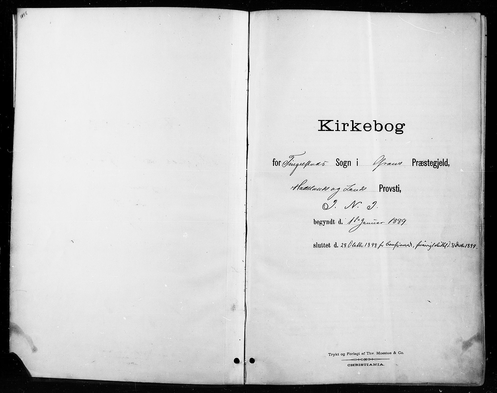 SAH, Gran prestekontor, Ministerialbok nr. 18, 1889-1899