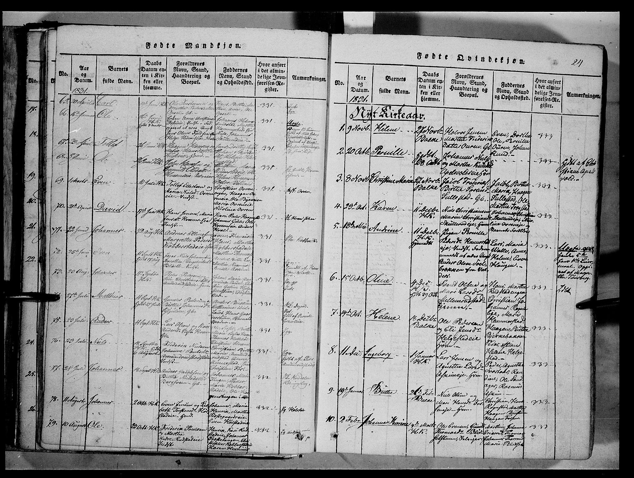 SAH, Østre Toten prestekontor, Ministerialbok nr. 1, 1828-1839, s. 24