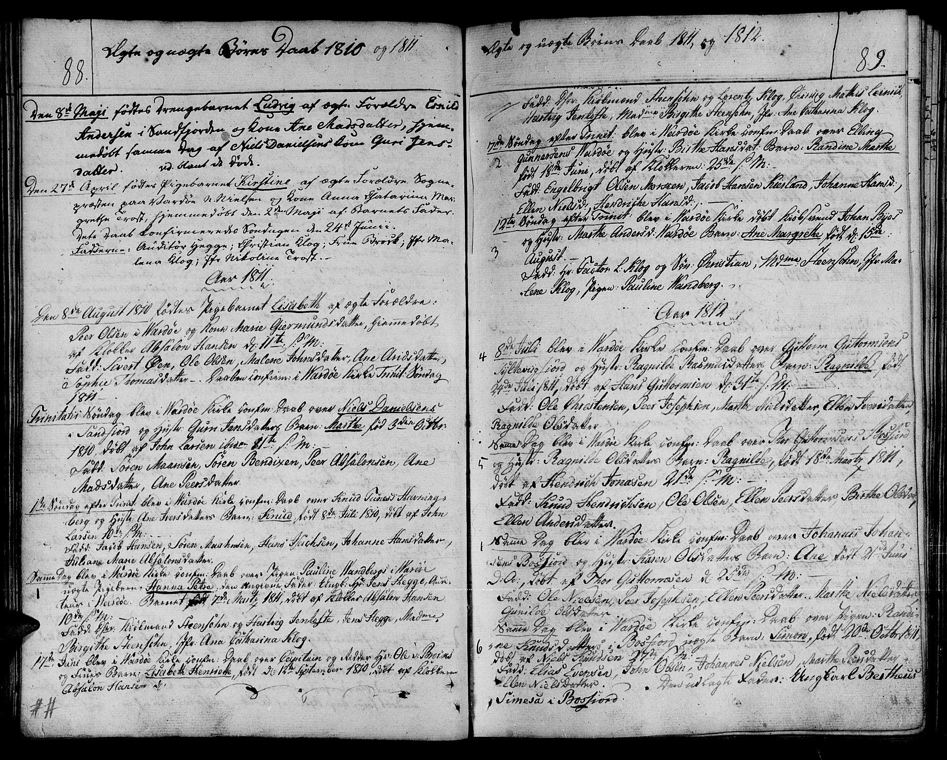 SATØ, Vardø sokneprestkontor, H/Ha/L0002kirke: Ministerialbok nr. 2, 1805-1842, s. 88-89