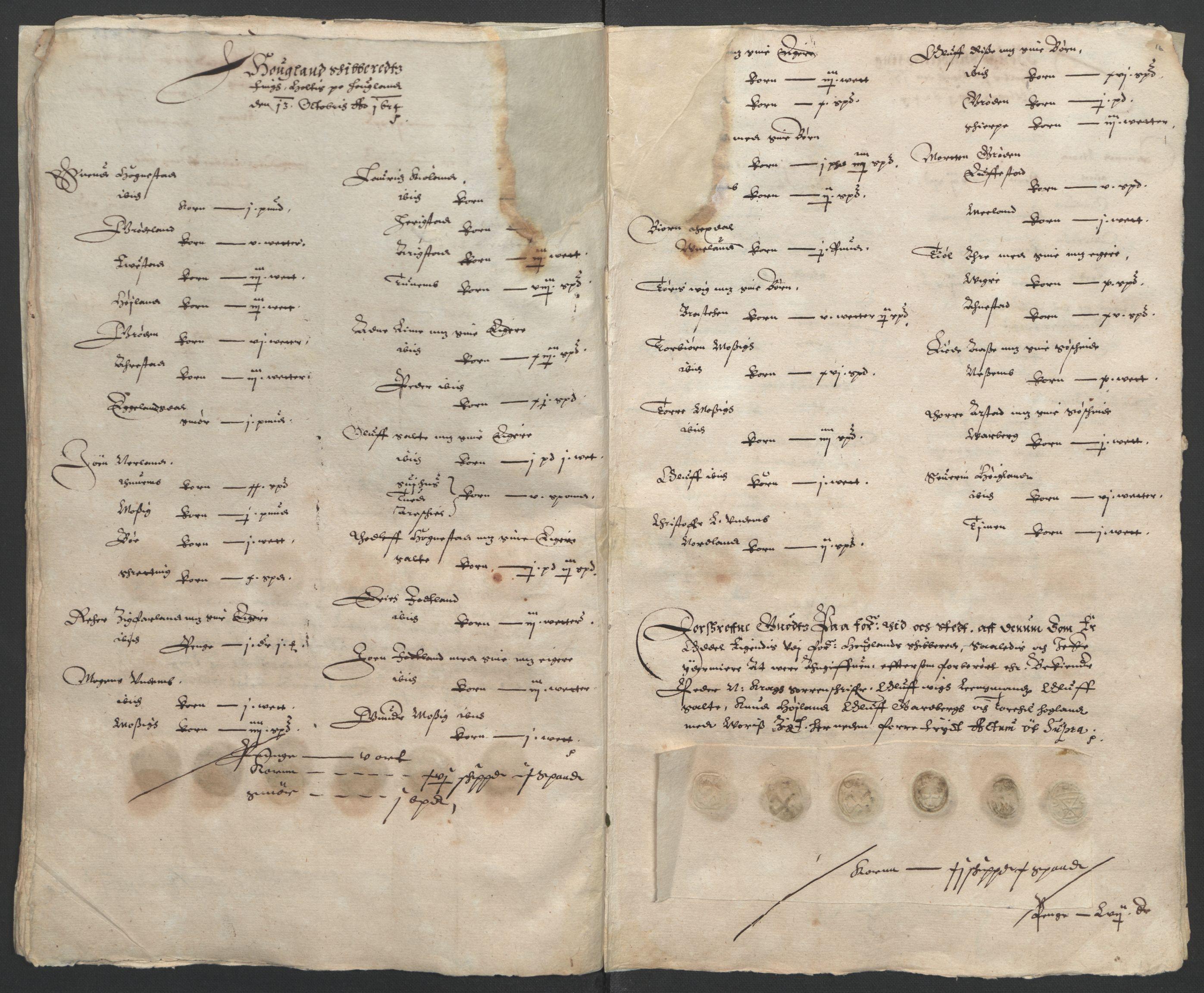 RA, Stattholderembetet 1572-1771, Ek/L0010: Jordebøker til utlikning av rosstjeneste 1624-1626:, 1624-1626, s. 50