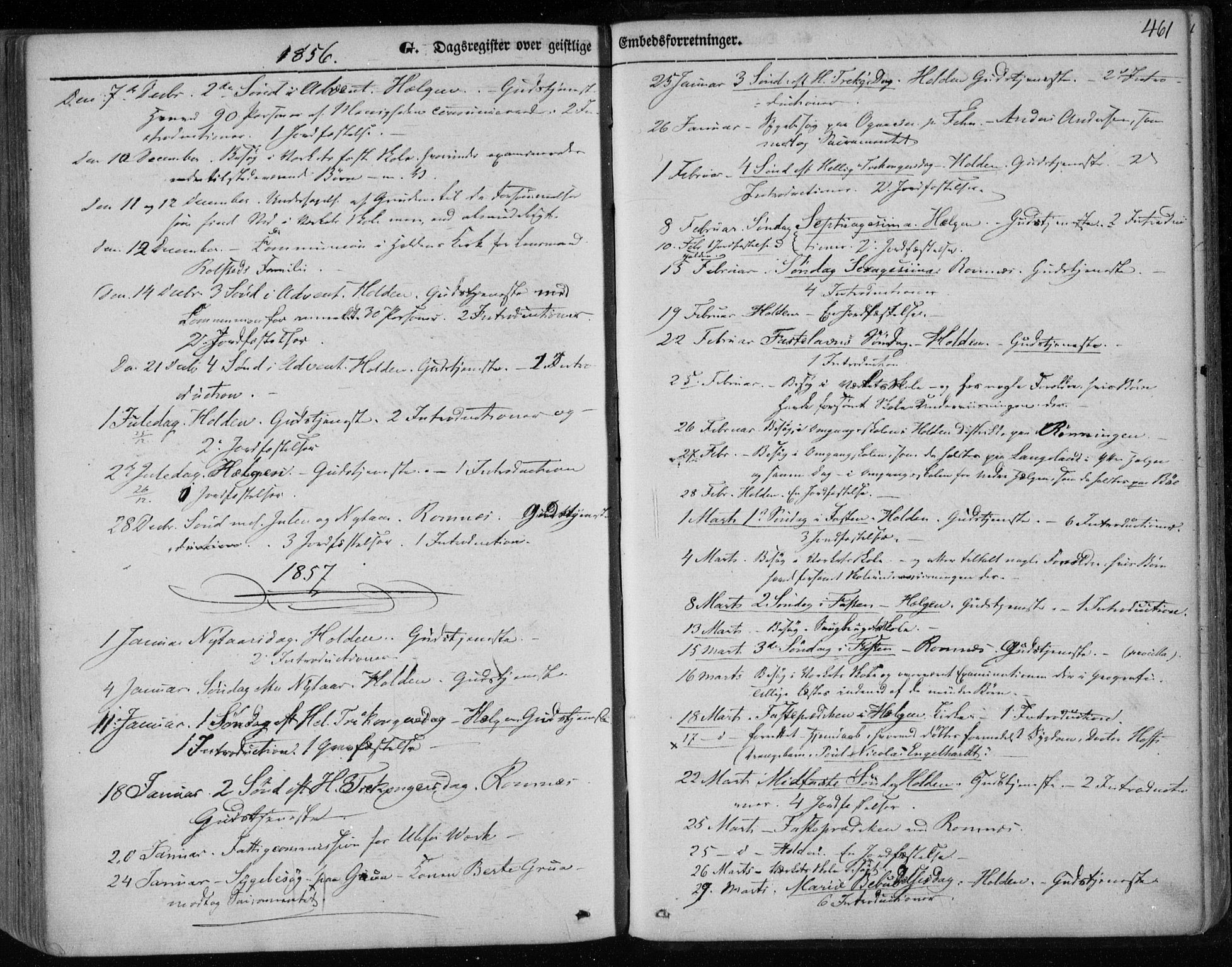 SAKO, Holla kirkebøker, F/Fa/L0005: Ministerialbok nr. 5, 1849-1860, s. 461