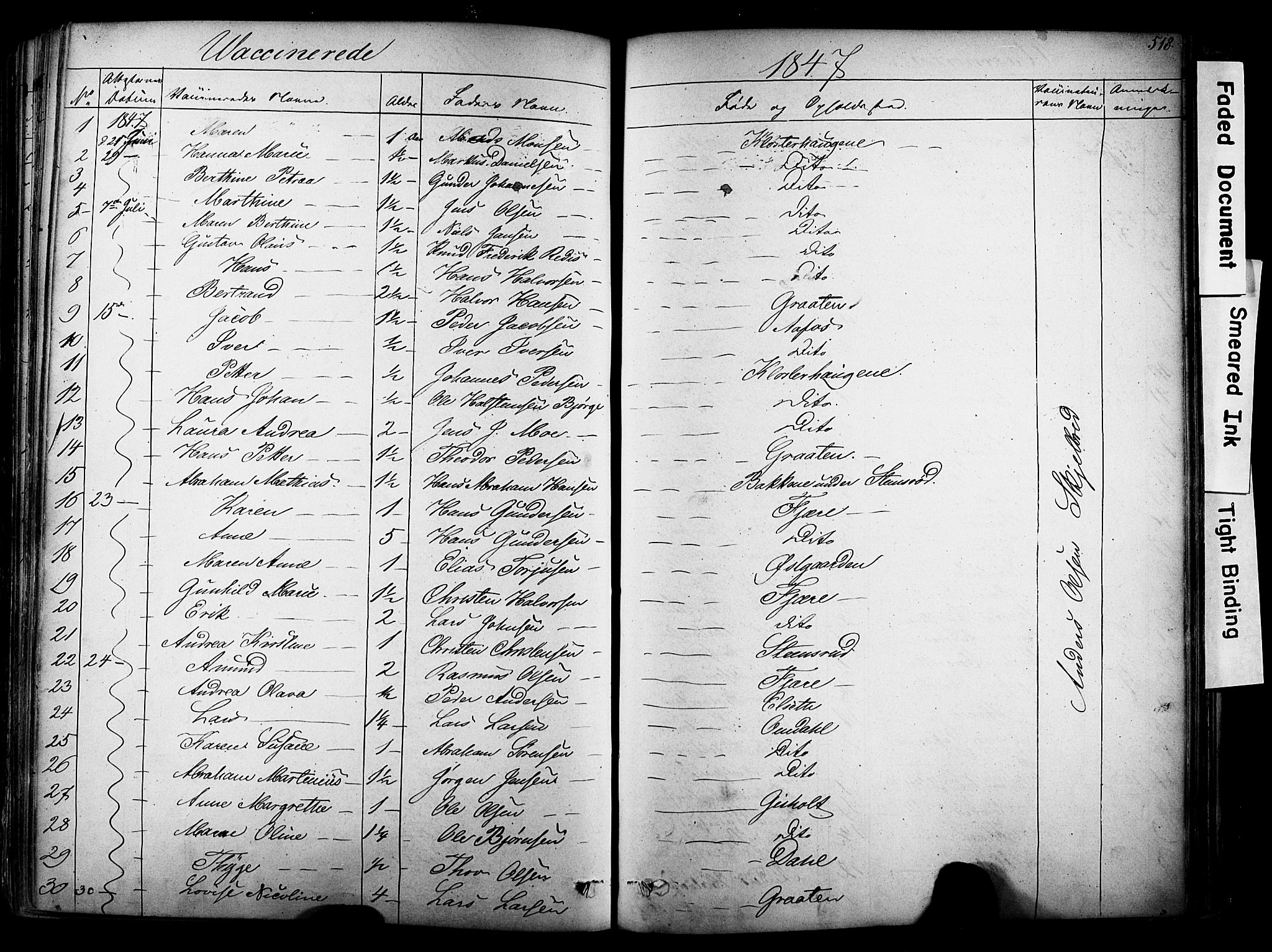 SAKO, Solum kirkebøker, F/Fa/L0006: Ministerialbok nr. I 6, 1844-1855, s. 518