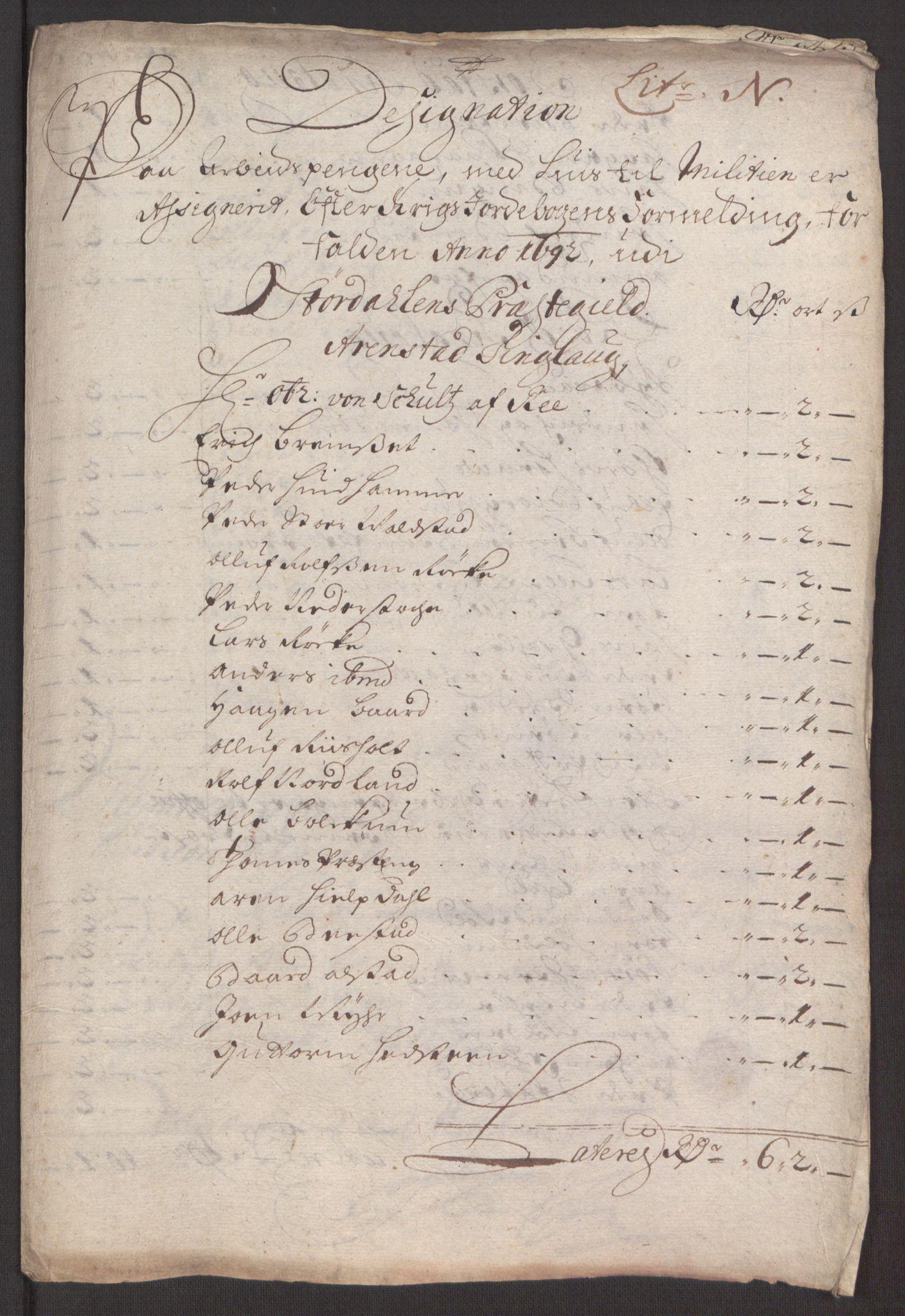RA, Rentekammeret inntil 1814, Reviderte regnskaper, Fogderegnskap, R62/L4185: Fogderegnskap Stjørdal og Verdal, 1692, s. 209