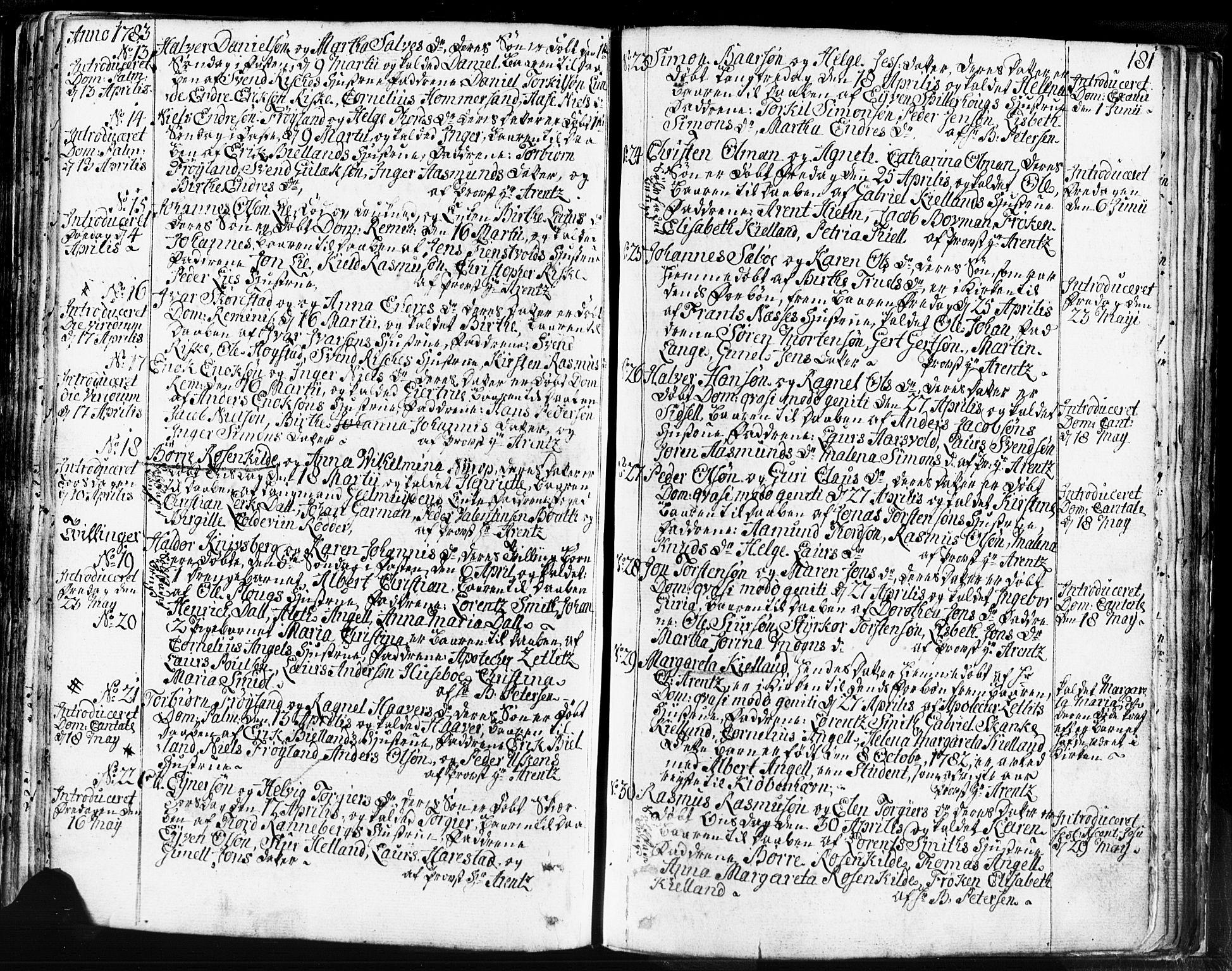SAST, Domkirken sokneprestkontor, 30/30BB/L0004: Klokkerbok nr. B 4, 1752-1790, s. 181