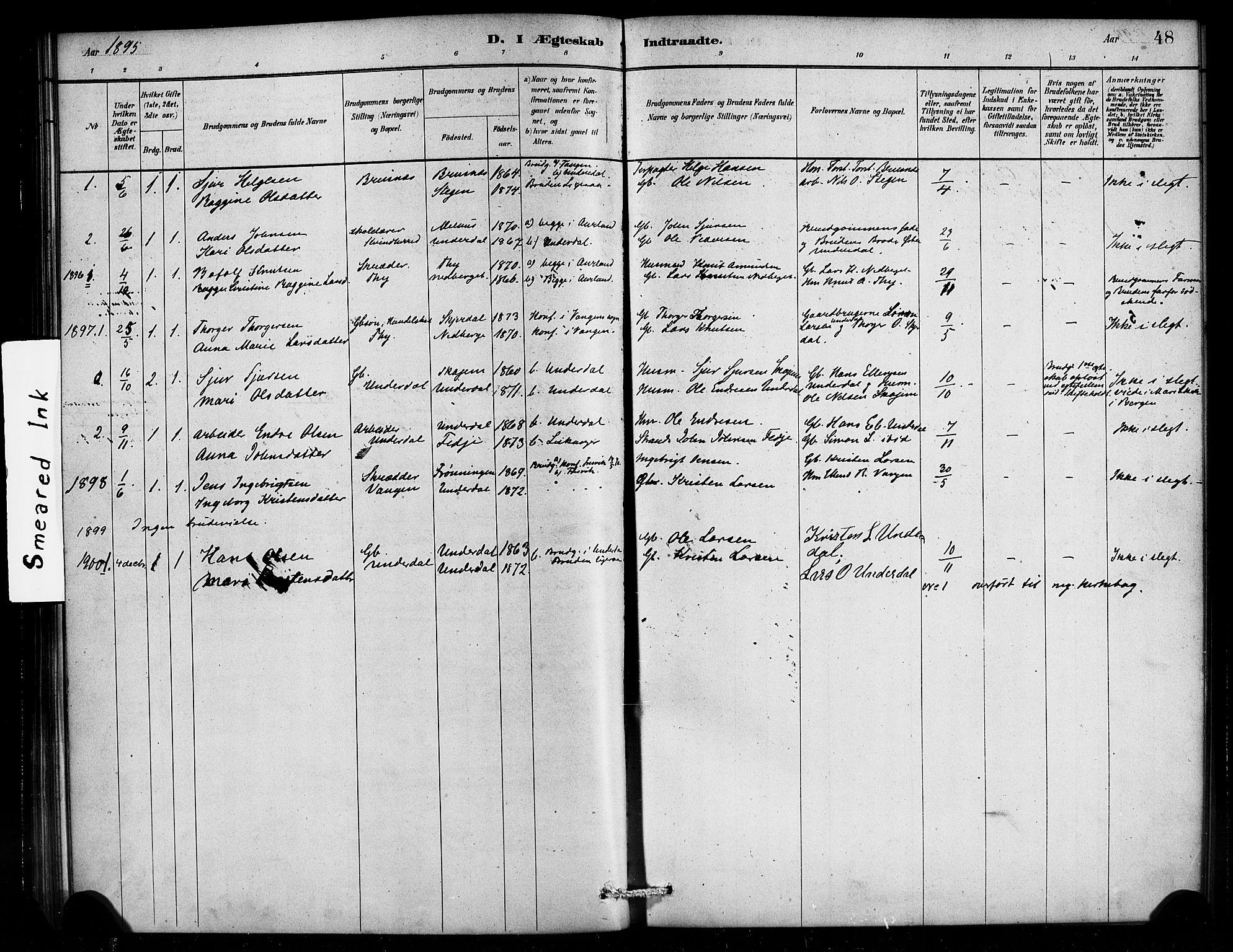 SAB, Aurland Sokneprestembete*, Ministerialbok nr. E 1, 1880-1907, s. 48