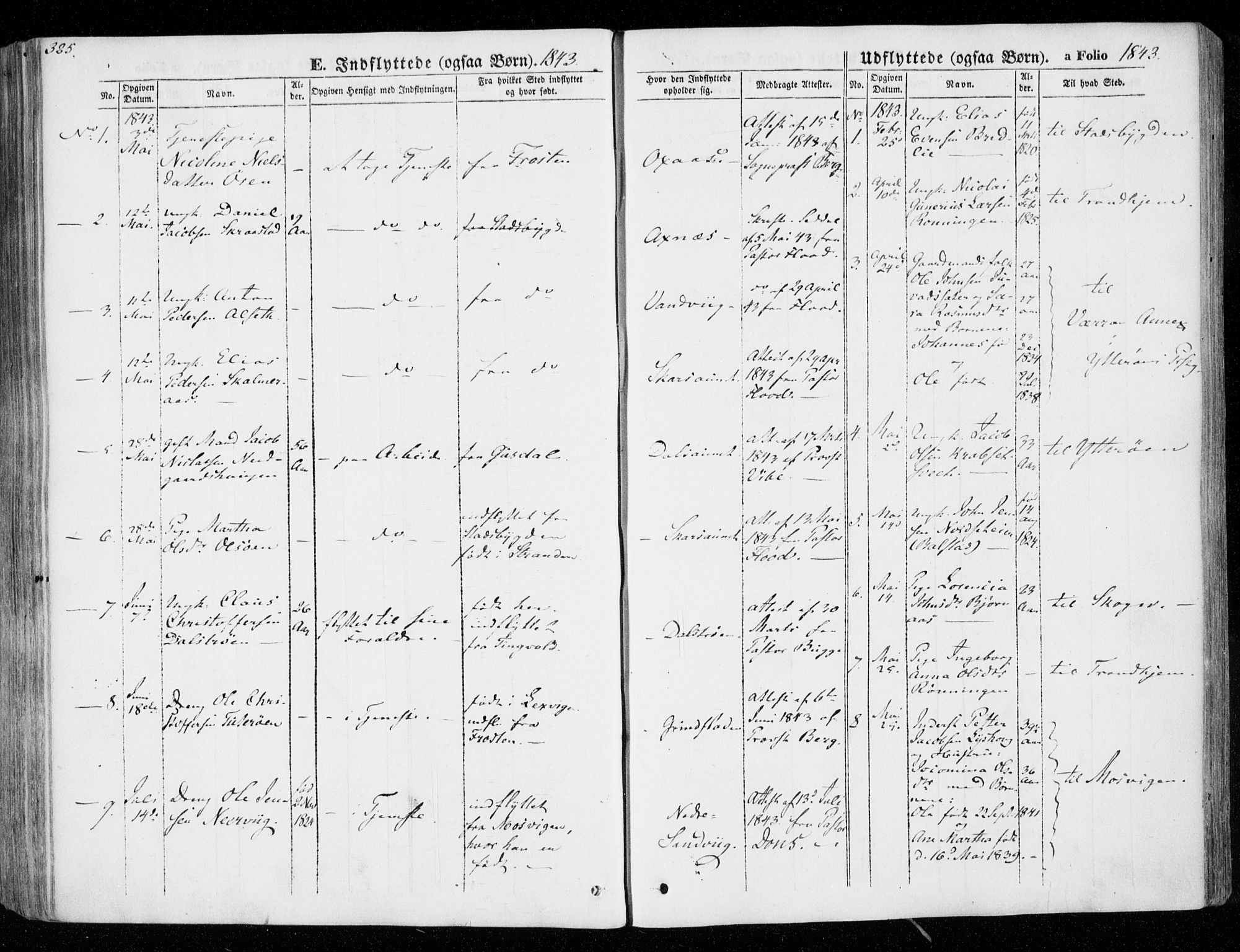 SAT, Ministerialprotokoller, klokkerbøker og fødselsregistre - Nord-Trøndelag, 701/L0007: Ministerialbok nr. 701A07 /1, 1842-1854, s. 325