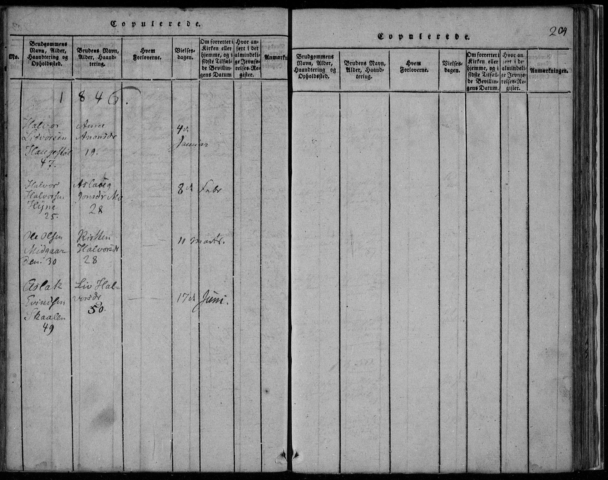 SAKO, Rauland kirkebøker, F/Fa/L0001: Ministerialbok nr. 1, 1814-1859, s. 204