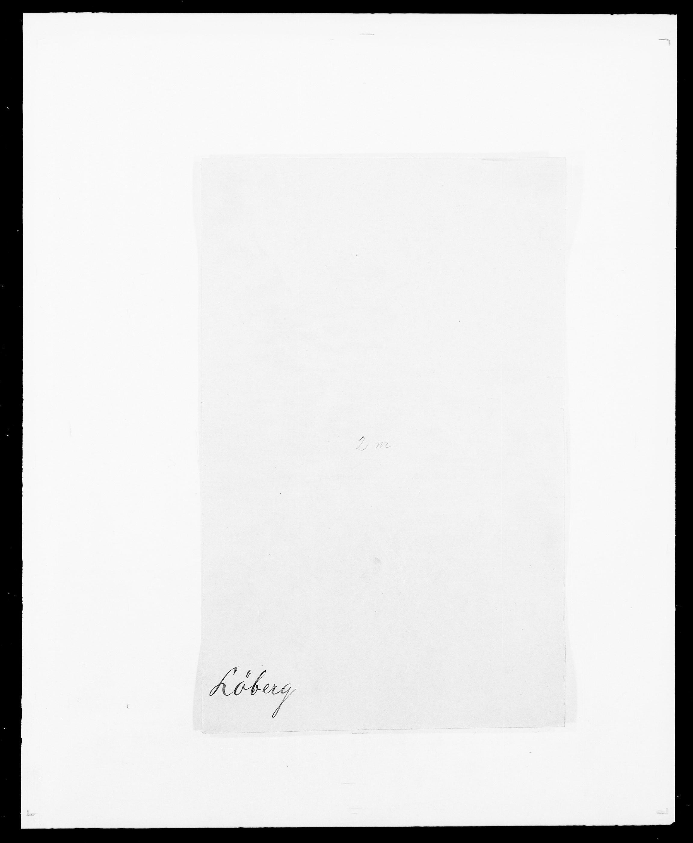 SAO, Delgobe, Charles Antoine - samling, D/Da/L0025: Løberg - Mazar, s. 1