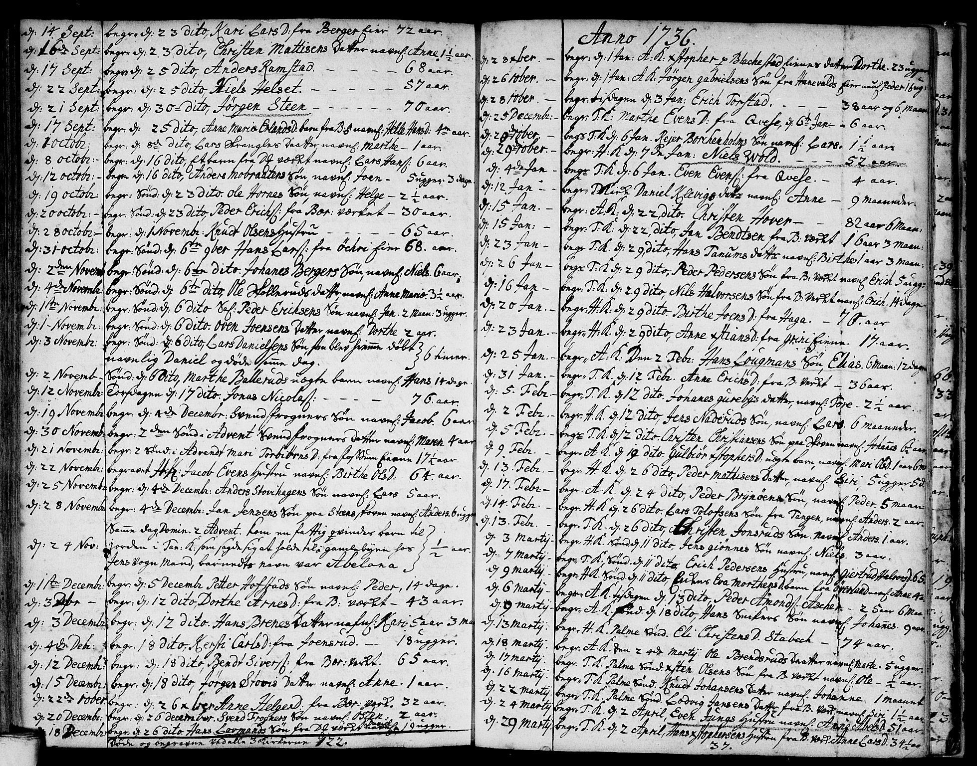 SAO, Asker prestekontor Kirkebøker, F/Fa/L0001: Ministerialbok nr. I 1, 1726-1744, s. 98