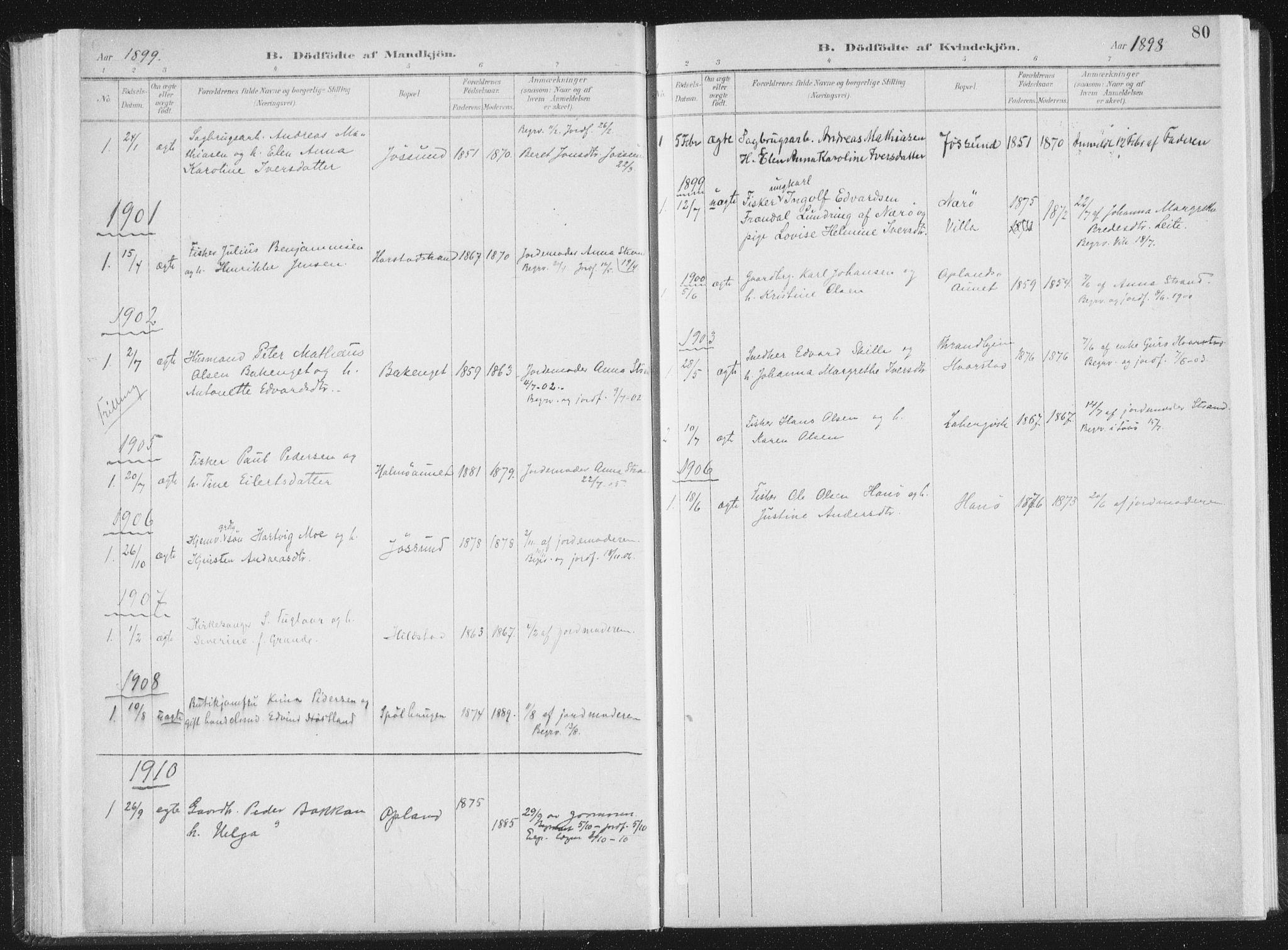 SAT, Ministerialprotokoller, klokkerbøker og fødselsregistre - Nord-Trøndelag, 771/L0597: Ministerialbok nr. 771A04, 1885-1910, s. 80