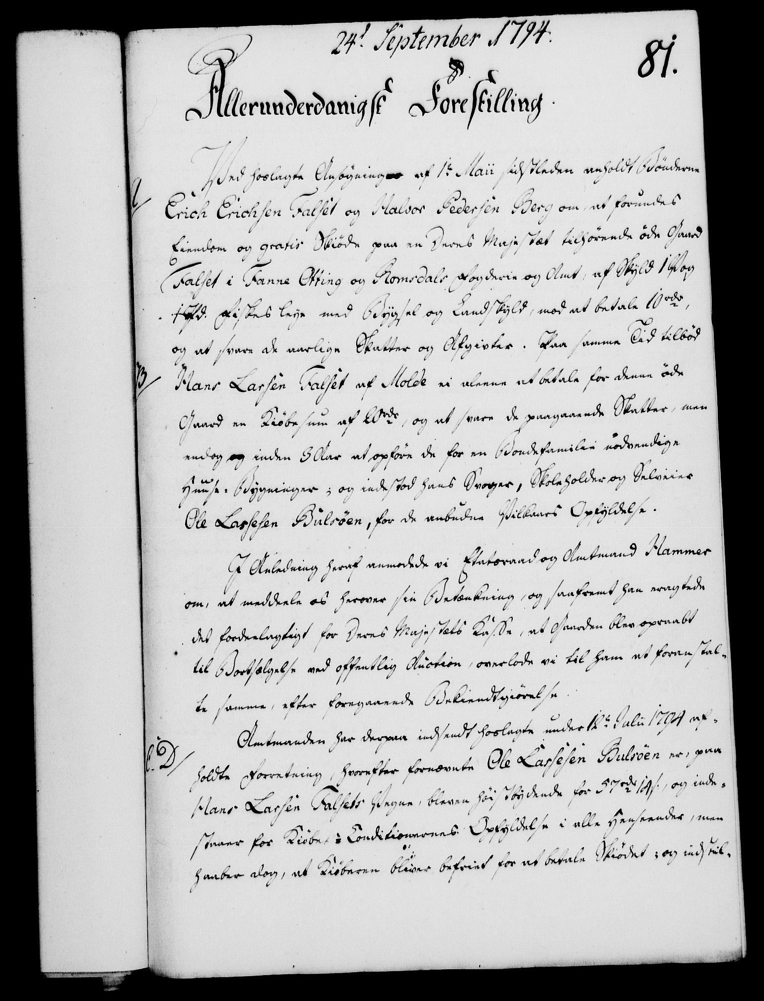 RA, Rentekammeret, Kammerkanselliet, G/Gf/Gfa/L0076: Norsk relasjons- og resolusjonsprotokoll (merket RK 52.76), 1794, s. 384